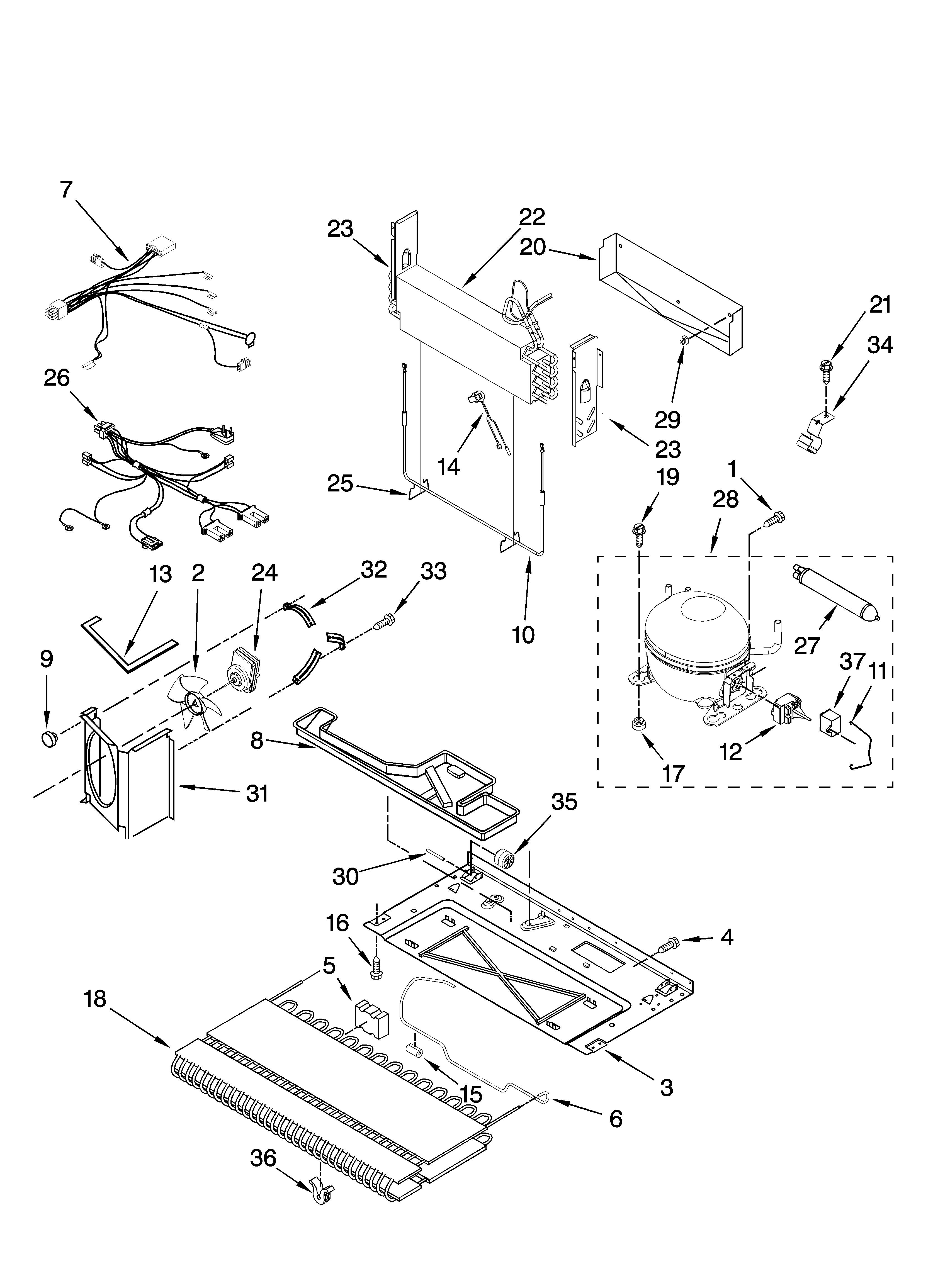 pss26 ge refrigerator wiring diagram