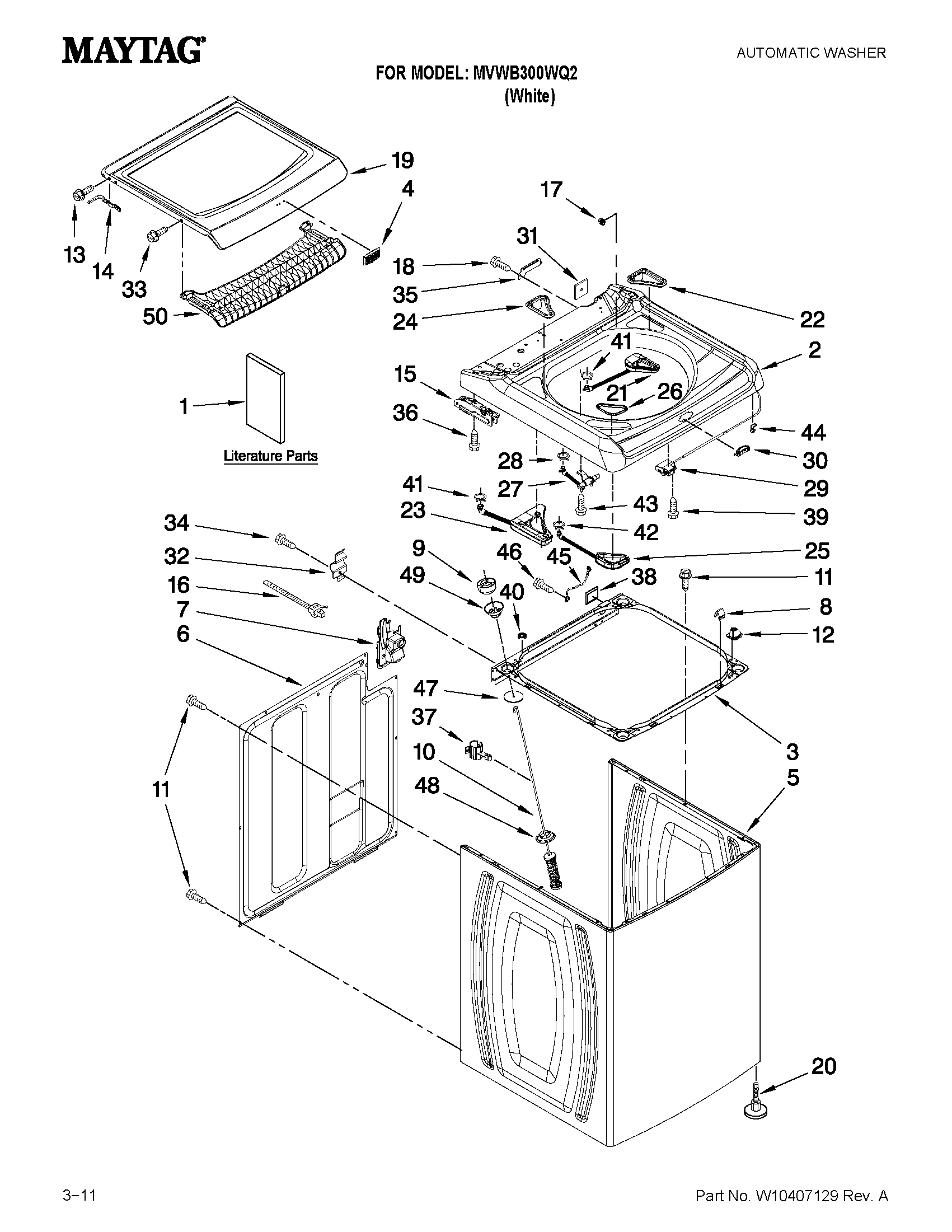 diagram and parts list for maytag washerparts model mvwc6esww1