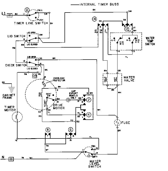 washing machine wiring diagrams english