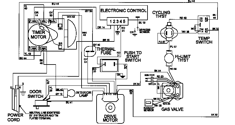 maytag gas dryer wiring diagram maytag neptune dryer wiring