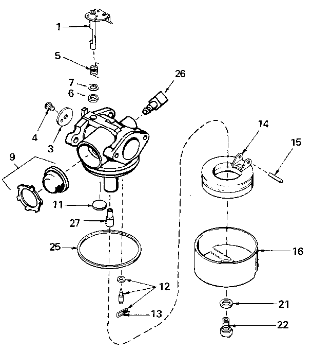carburetor 640065 71 143 diagram and parts list for tecumseh all