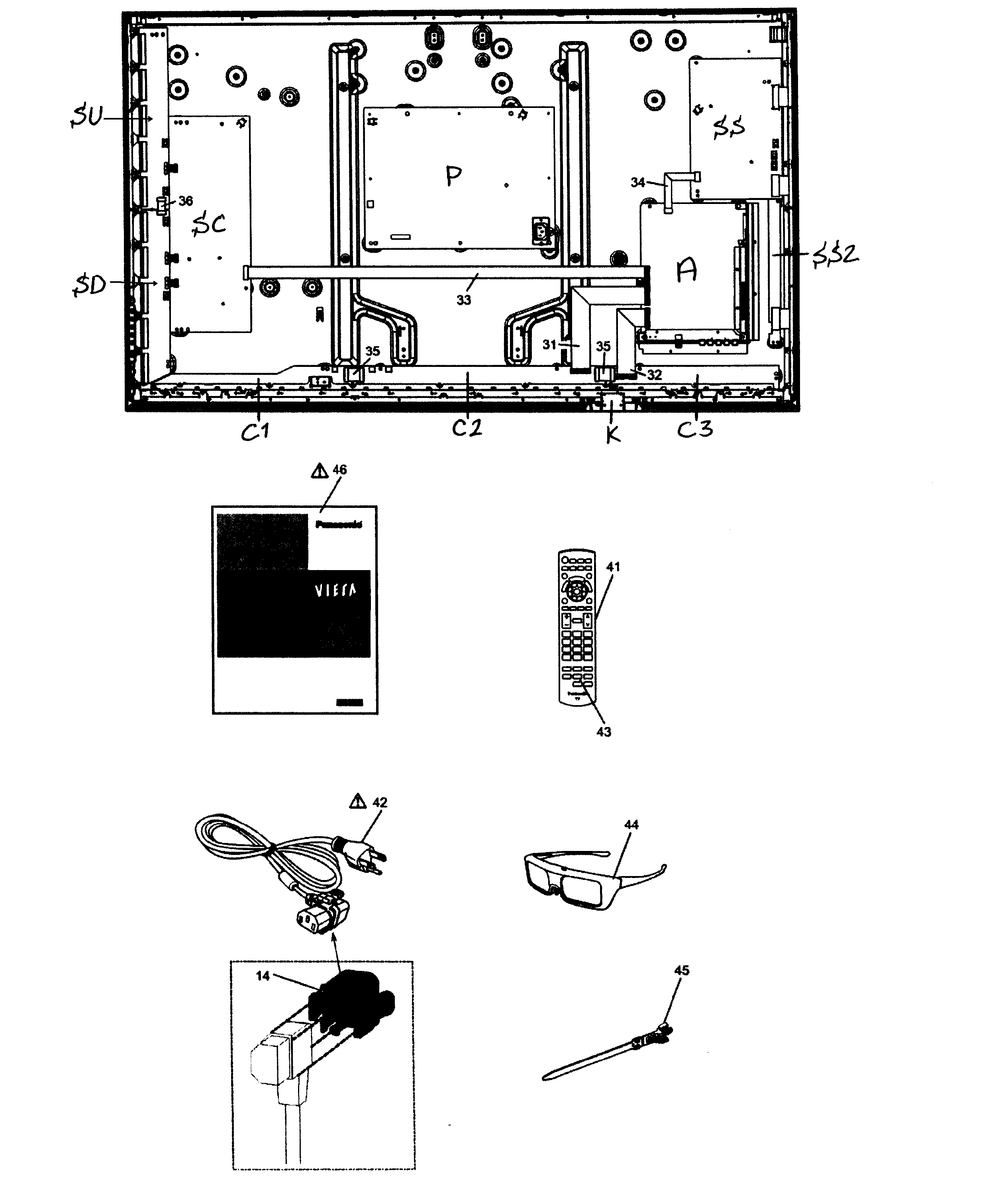 diagram panasonic tc p42x3x