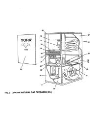 YORK UPFLOW NATURAL GAS FURNACE Parts | Model ...
