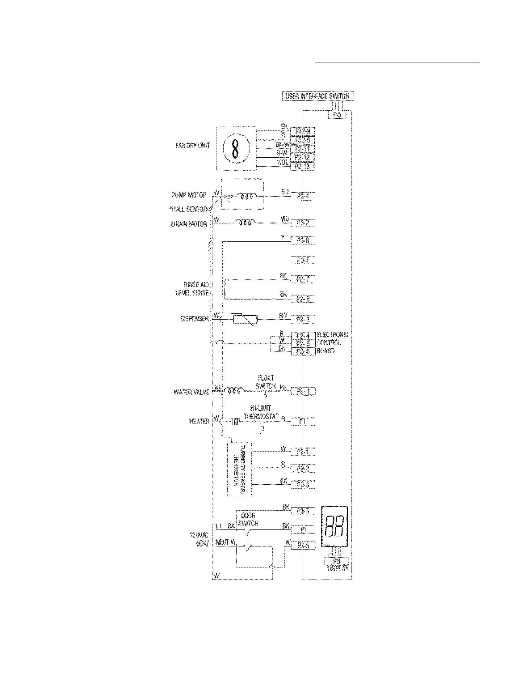 frigidaire dishwasher wiring diagram