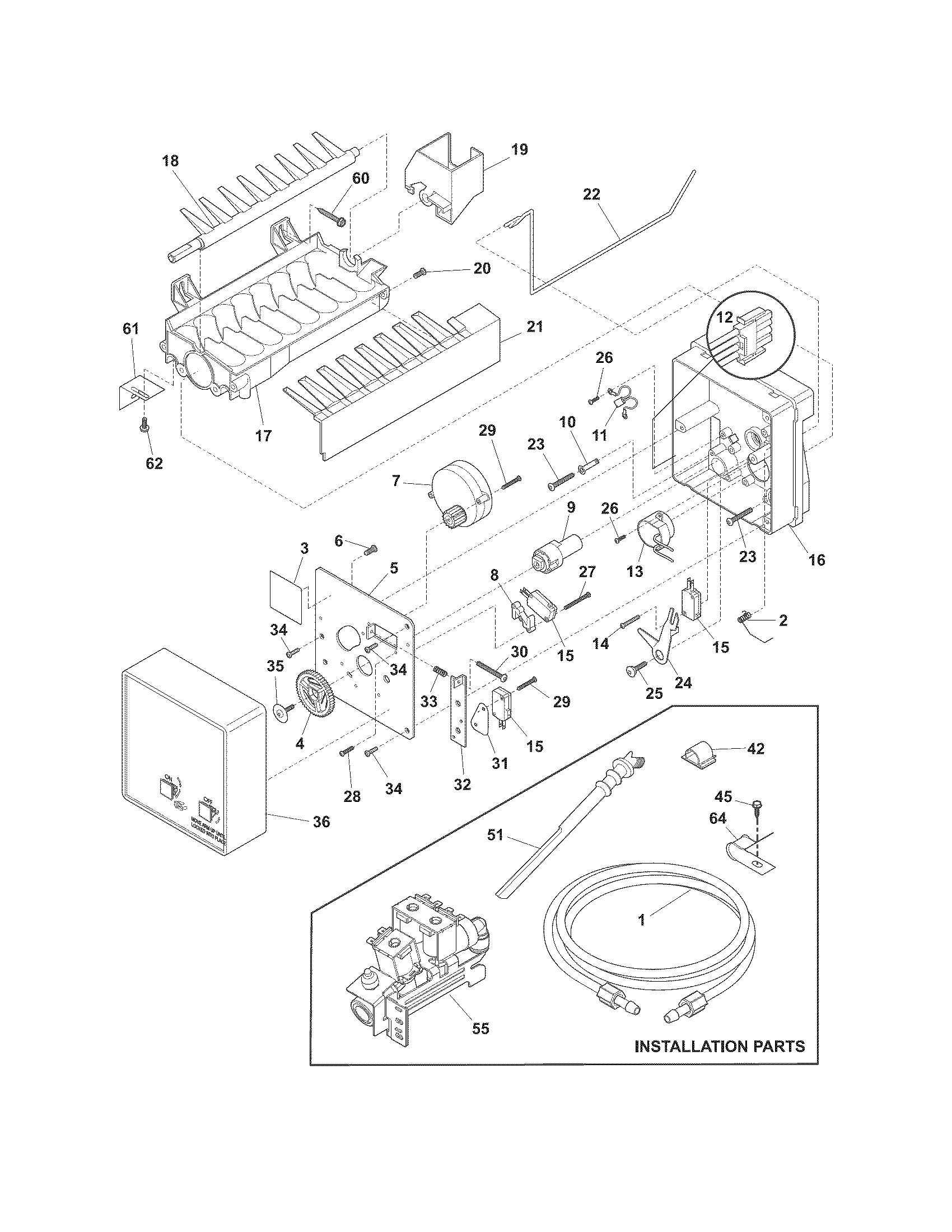 ice maker dispenser on ice maker dispenser wiring diagram