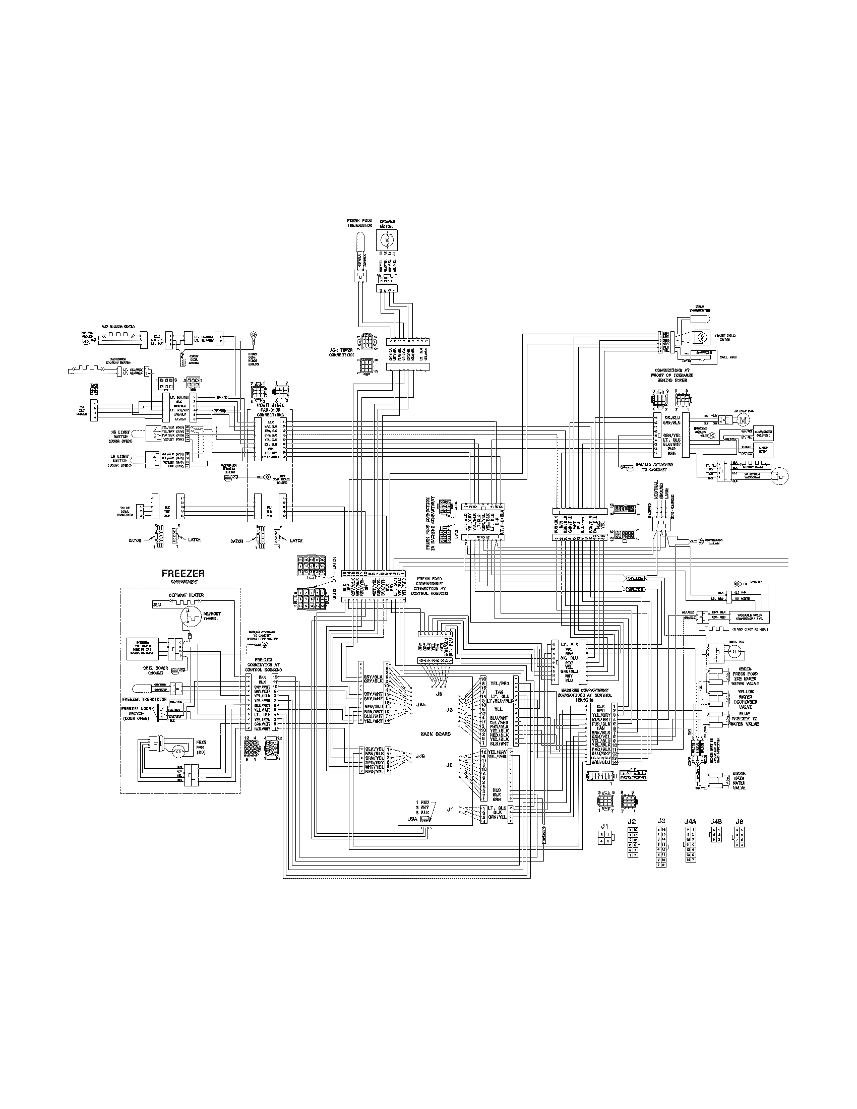wiring diagram kulkas no frost