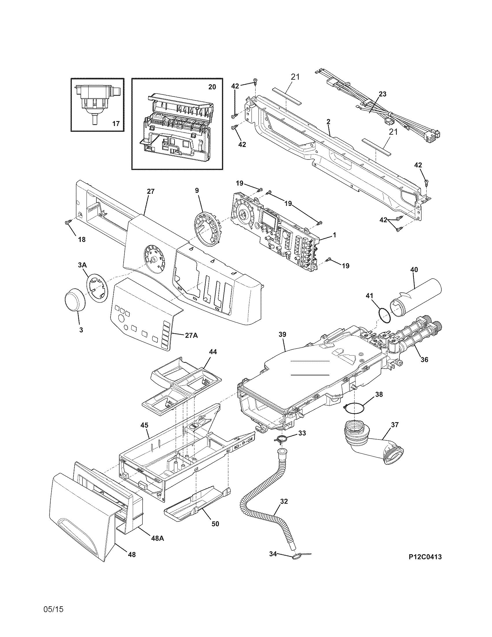 frigidaire washer schematic