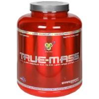 BSN True-Mass, Strawberry MilkShake, 5.82 pounds