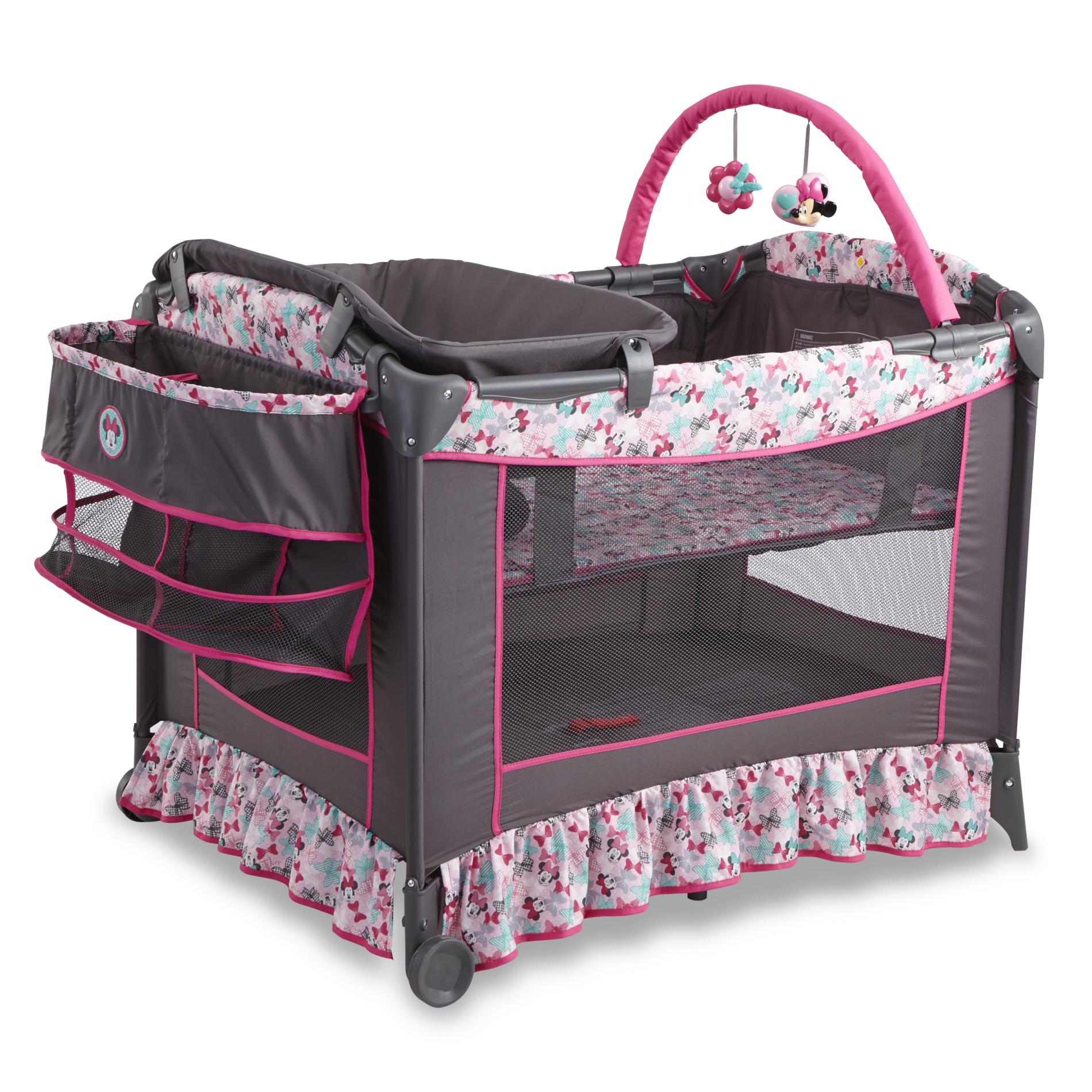 Outdoor Baby Playpen Disney Girls 39; Minnie Mouse Sweet Wonder Convertible Play