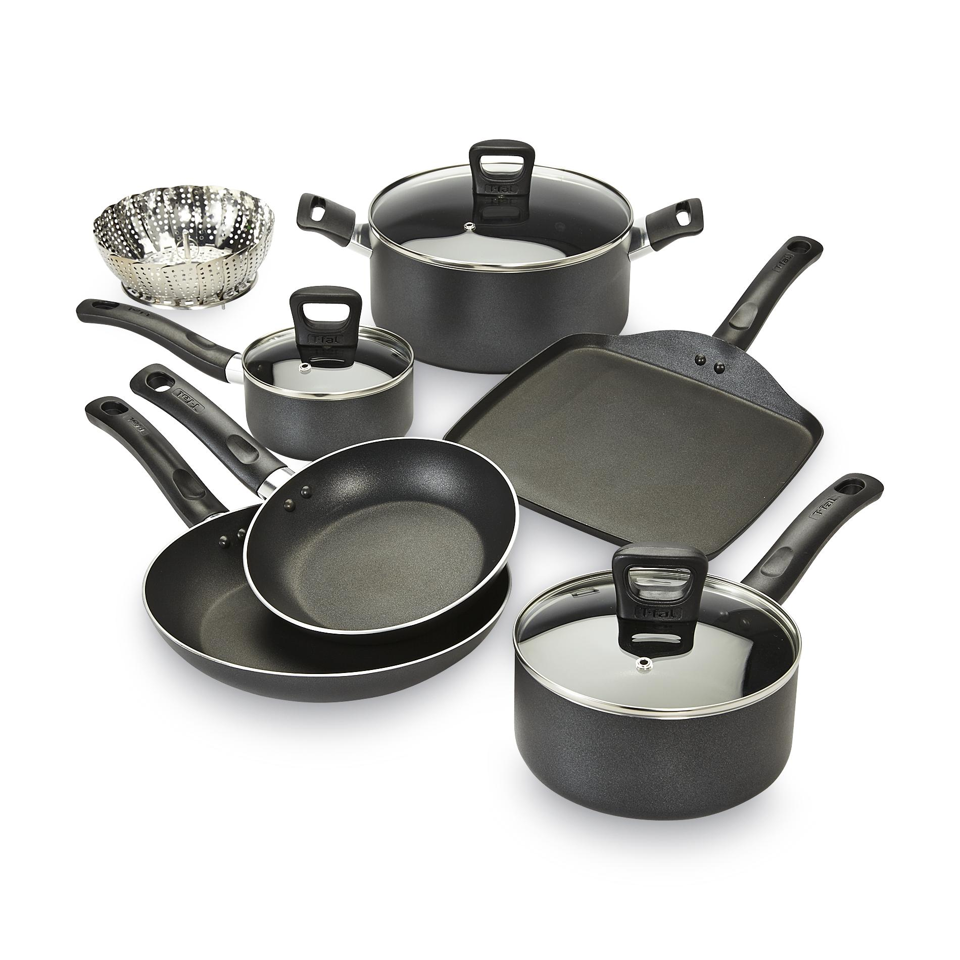 Tefal Pan Set T Fal 10 Pc Banquet Non Stick Stainless Steel Pot And Pan Set