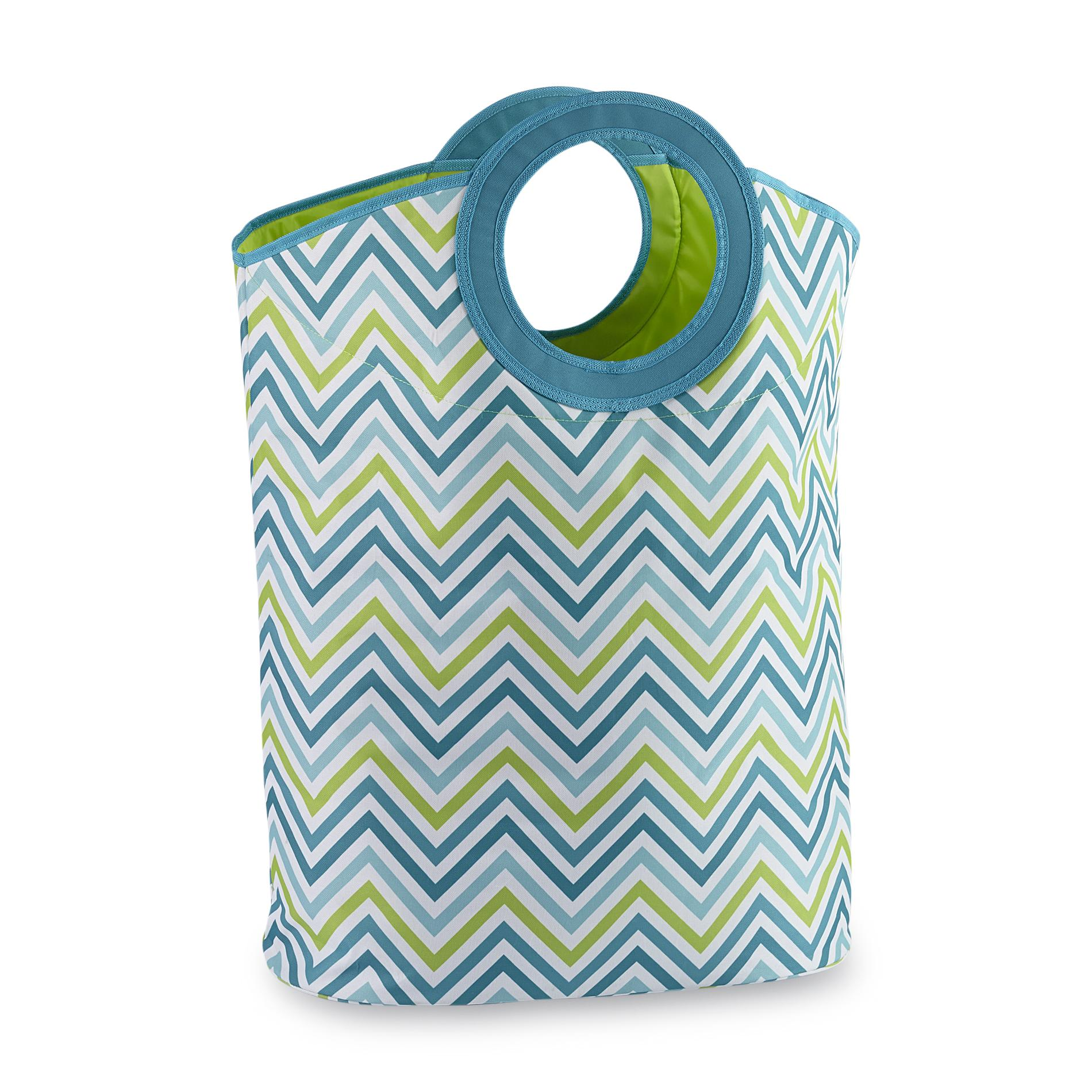 Canvas Hamper Bags Planet 3 Chevron Striped Canvas Carry Hamper Bag Home