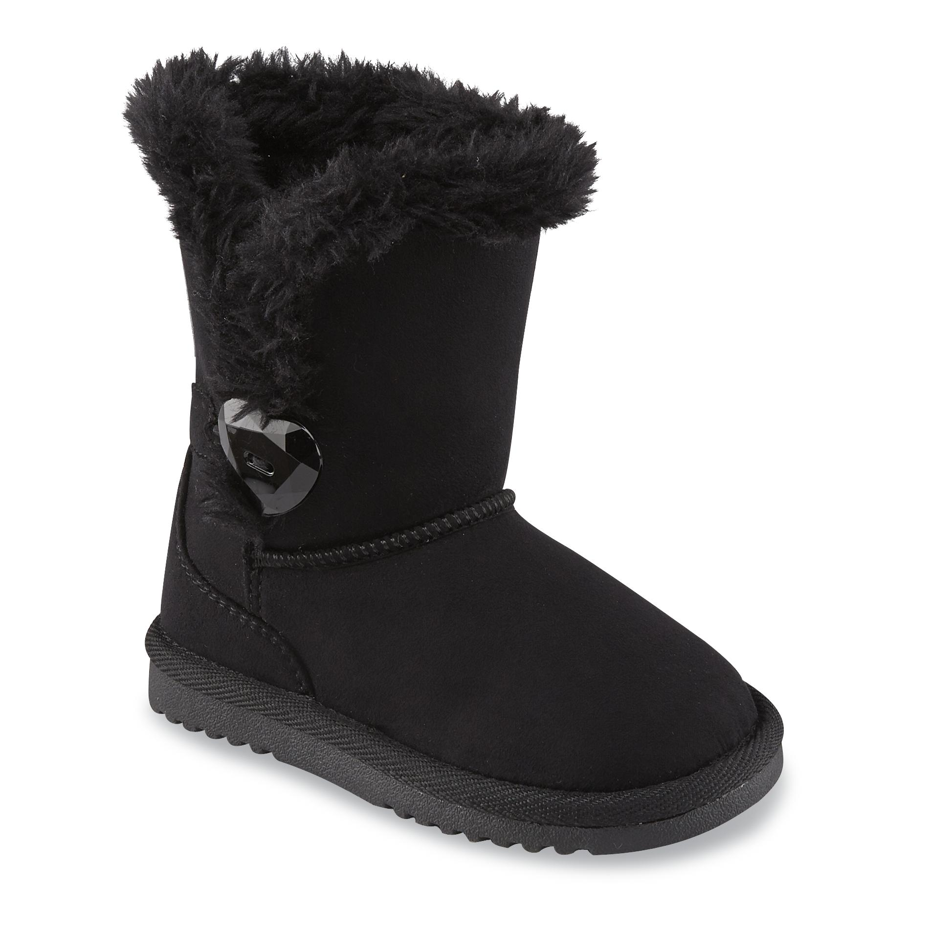 Piper Toddler Girl39s Aimee Black Faux Fur Mid Calf Fashion