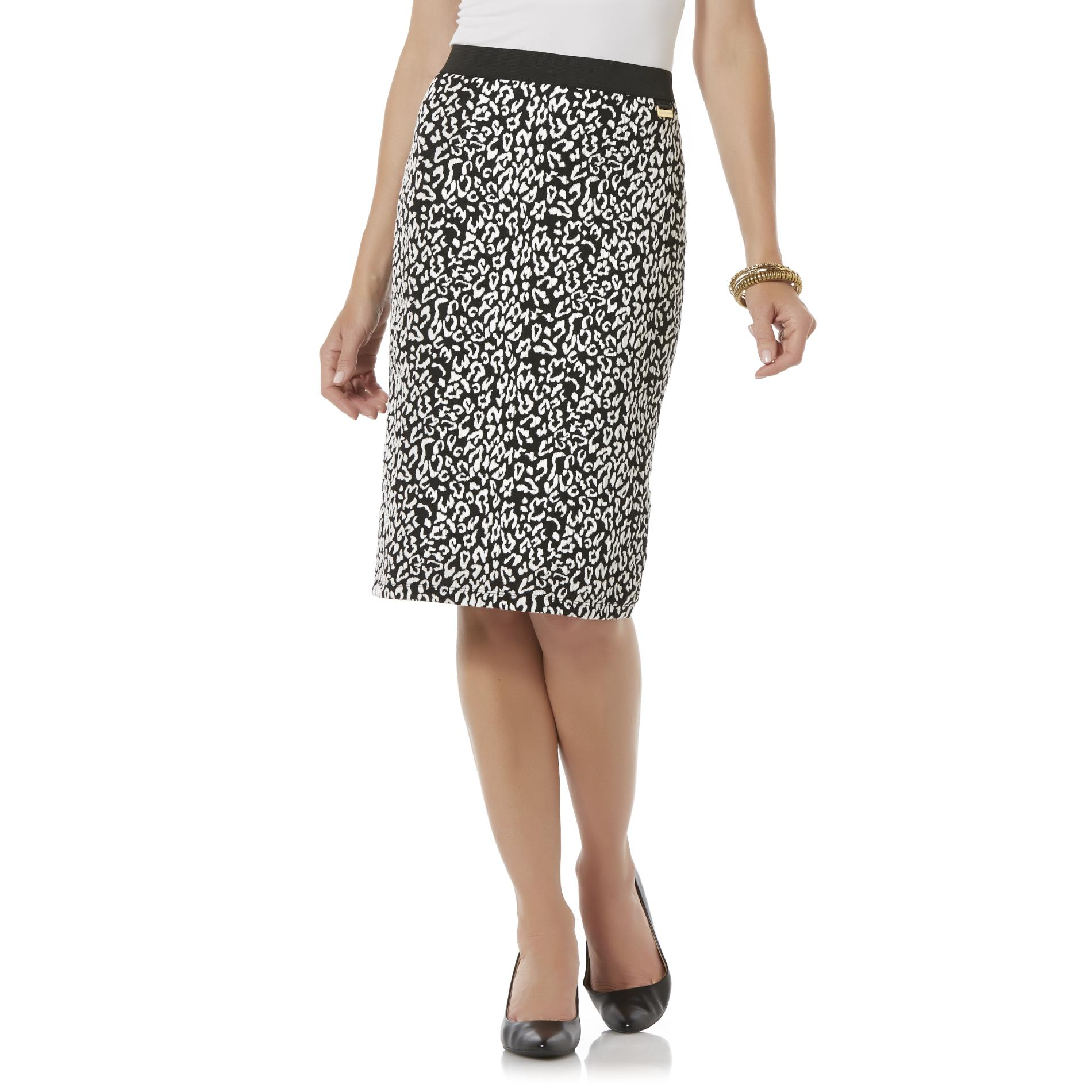 School Skirts Kmart Jaclyn Smith Women 39s Pencil Skirt Leopard Print