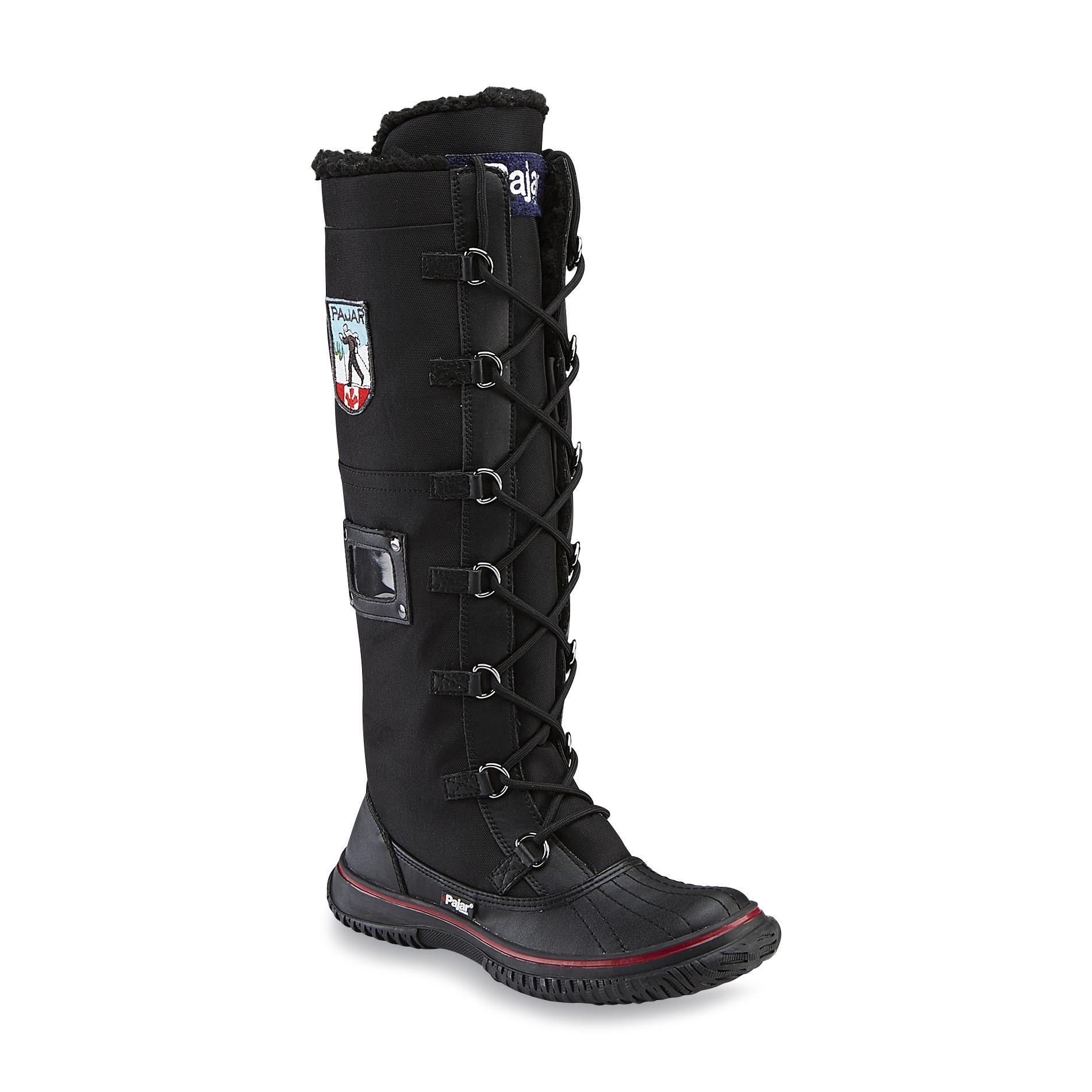 Pajarr Women39s Grip Zip Black Winter Boot