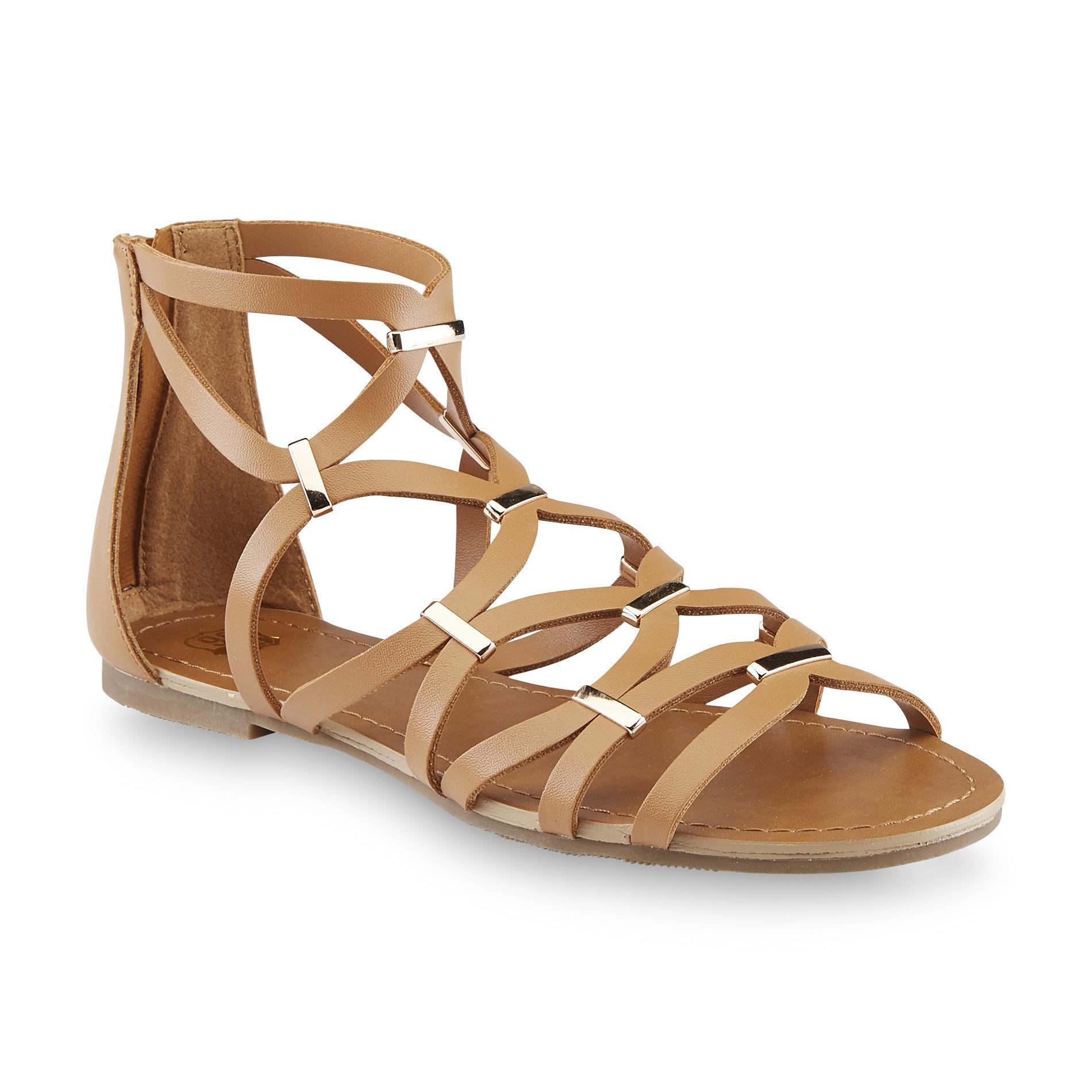 Route 66 women s alva brown embellished gladiator sandal shoes women s shoes women s sandals