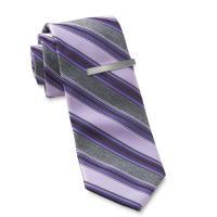 Structure Men's Necktie & Tie Bar - Striped - Sears