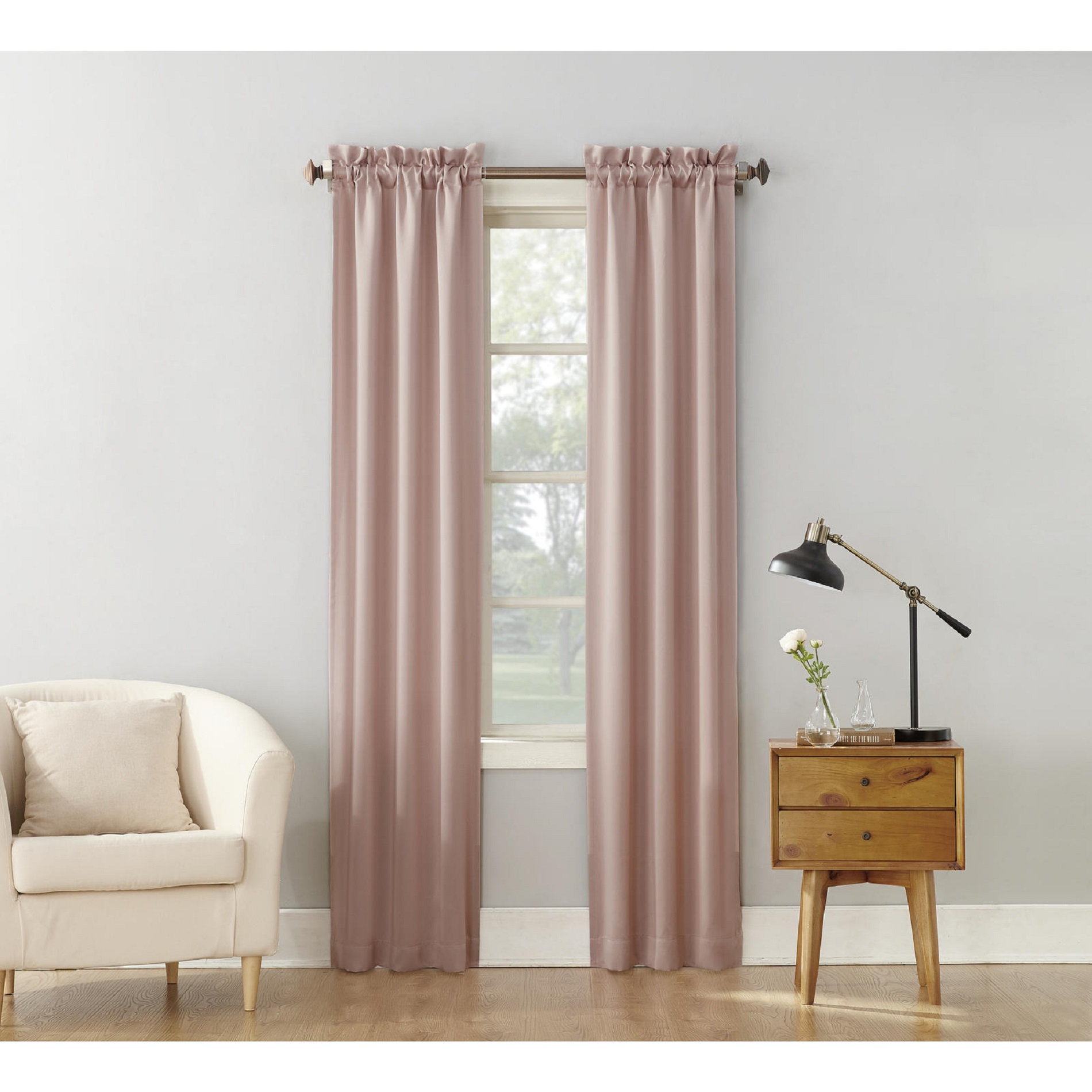 36 Inch Room Darkening Curtains Essential Home Logan 2pk Room Darkening Window Panels