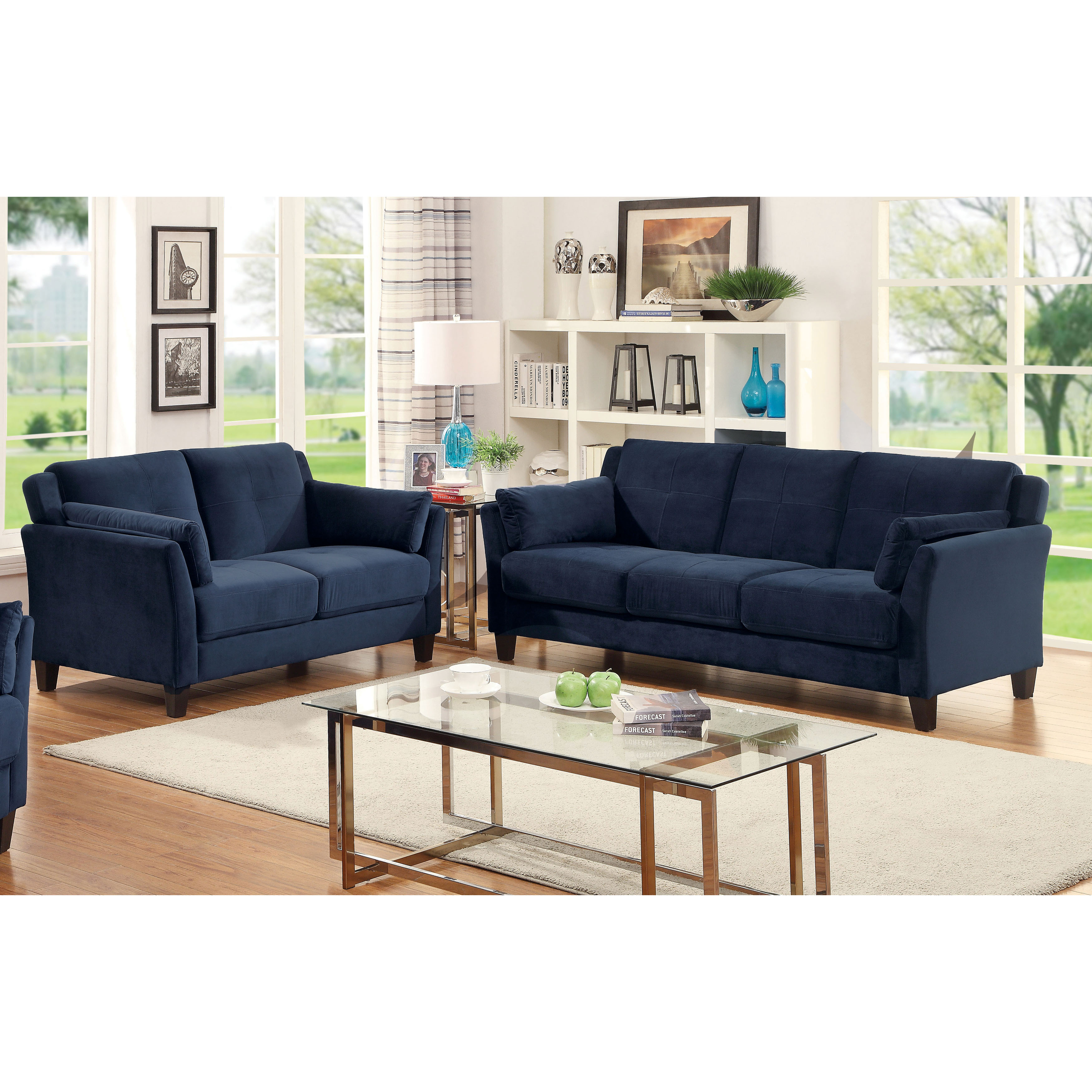 Sofa Set Offer Up Furniture Of America Sophea Flannelette 2 Piece Sofa Set