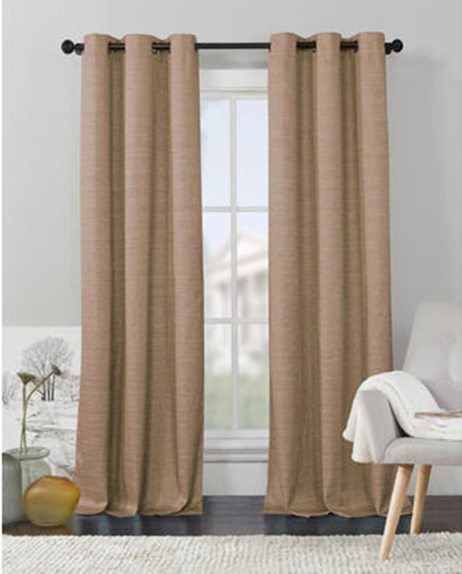 94 Inch Blackout Curtains Jaclyn Smith Livingston Thermal Window Panel