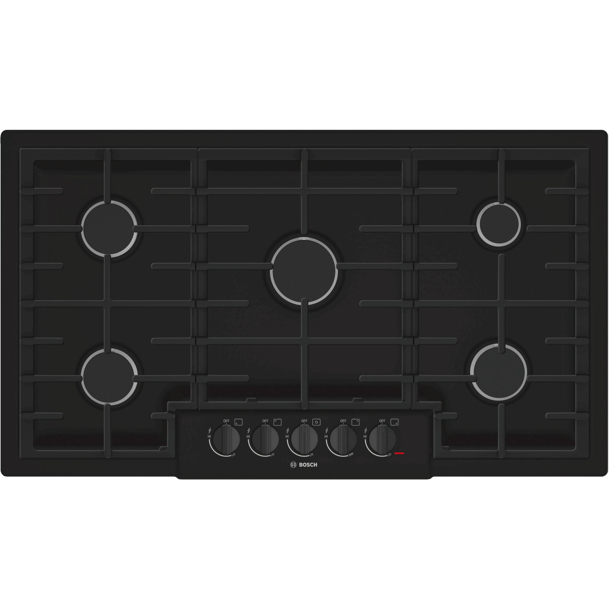 Gas Cooktop Installation Bosch Ngm8665uc 36 Quot 800 Series Gas Cooktop Black