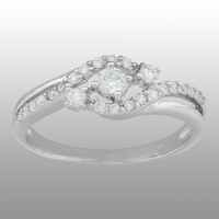 Ladies Cubic Zirconia Swirl Promise Ring - Size 9 Only ...