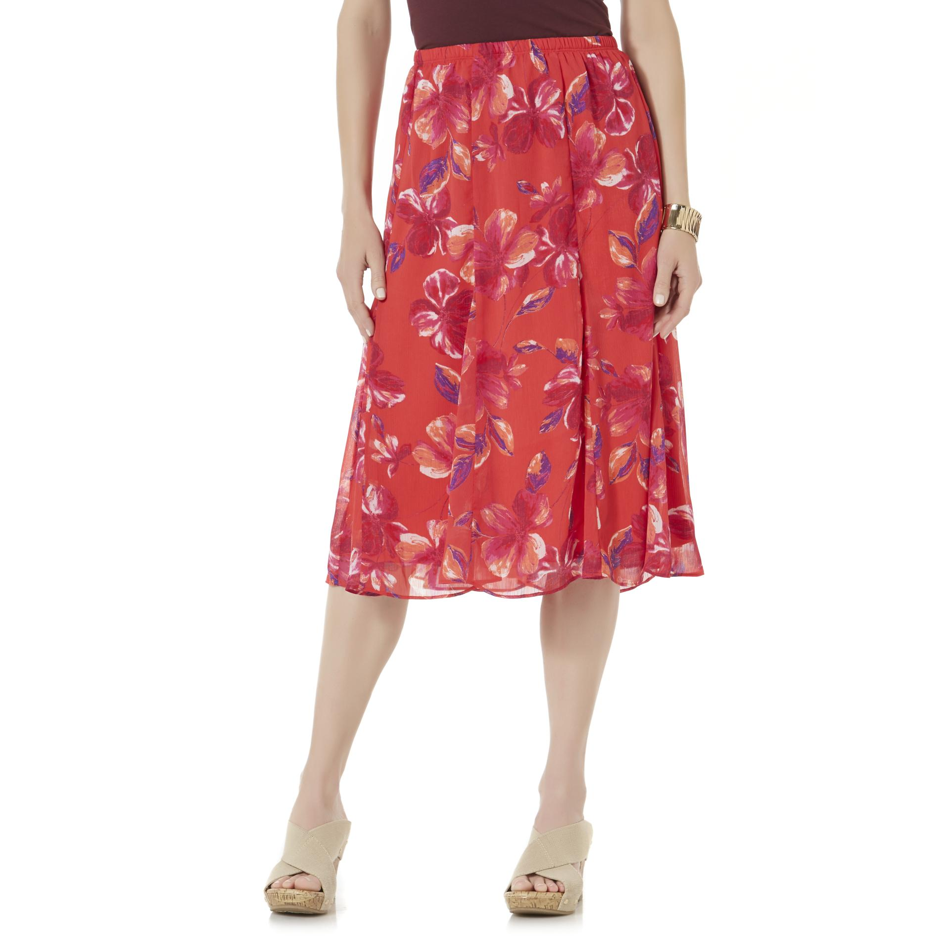 School Skirts Kmart Laura Scott Women 39s Crepe Skirt Floral Sears