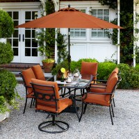 Garden Oasis Rockford 7 Piece Dining Set in Orange | Shop ...