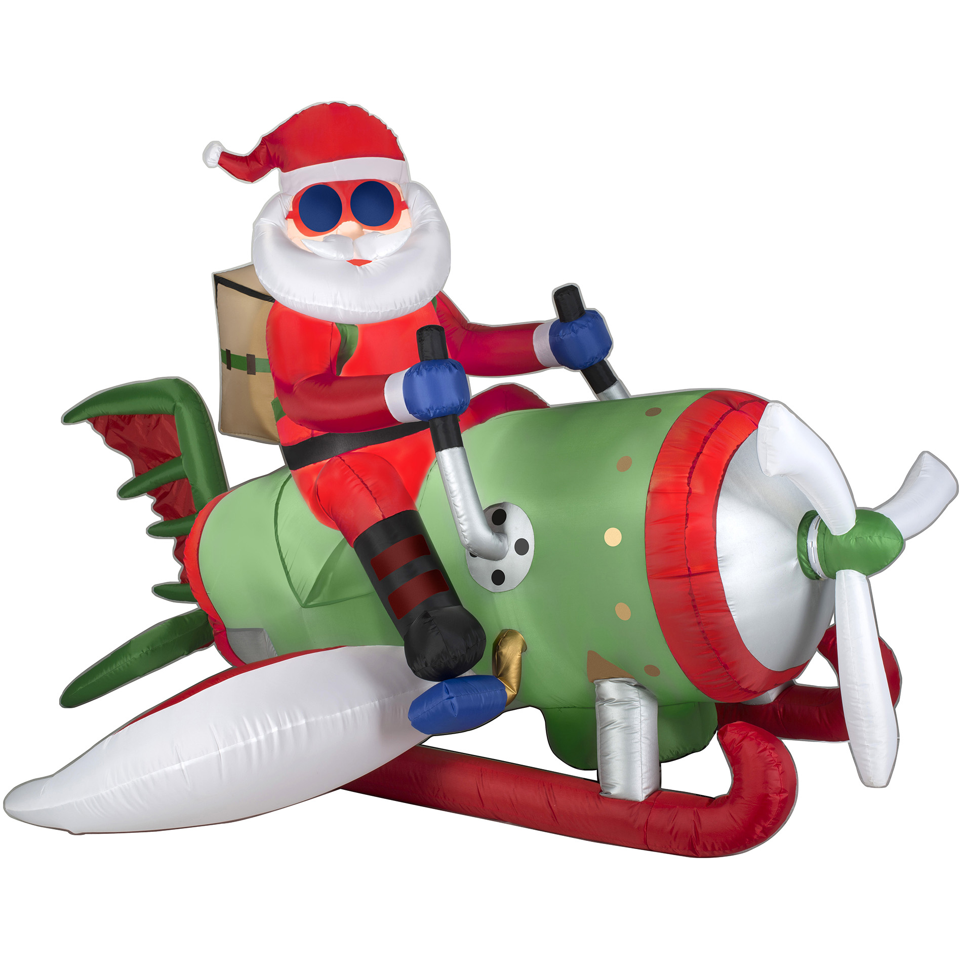 Elf Shoes Australia 6 5 39 Animated Airblown Santa On Flying Machine With Lights