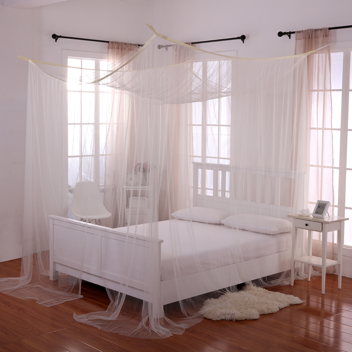 4 Post Canopy Bed Casablanca Palace 4 Post Bed Sheer Panel Canopy