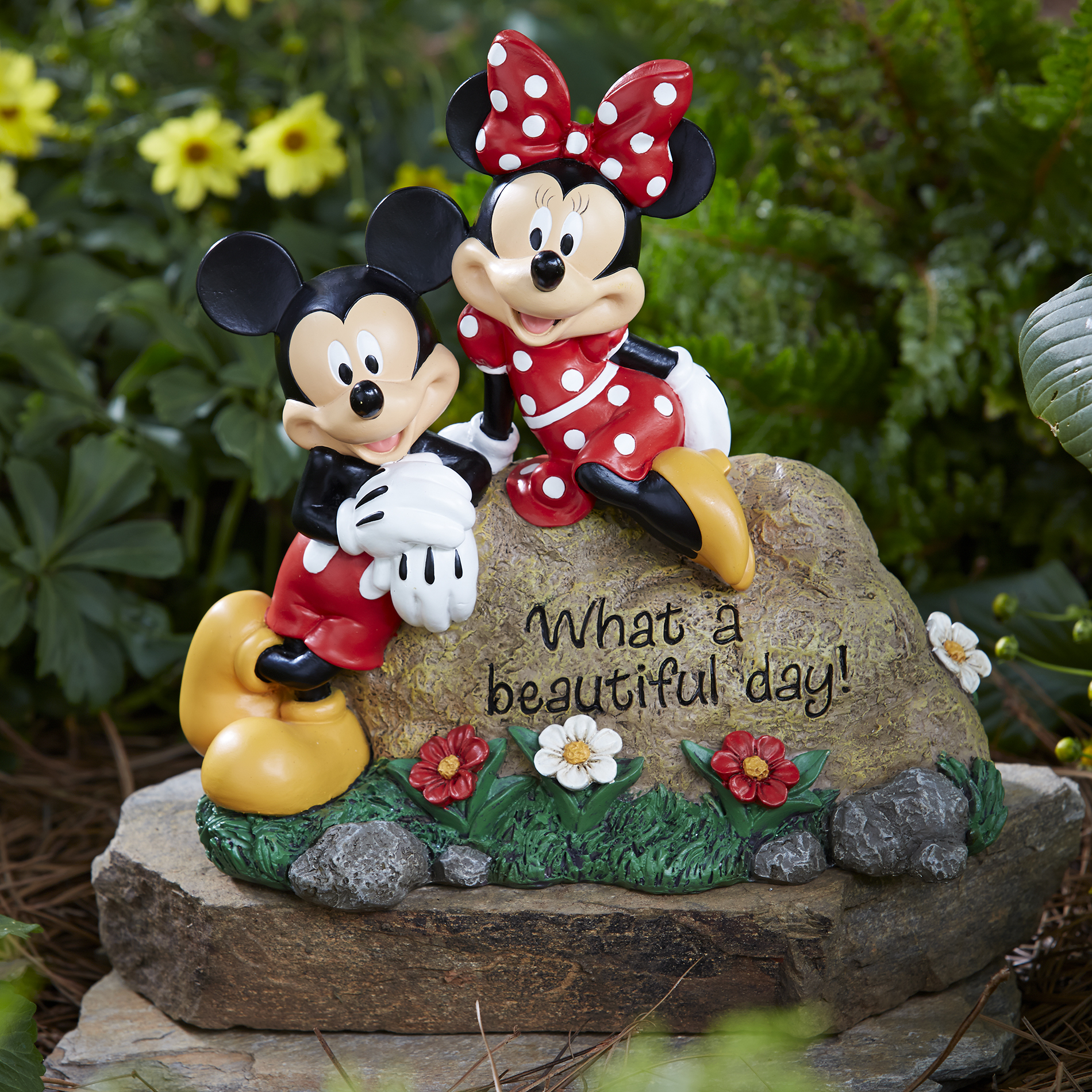 Welcome Statues Garden Disney Garden Rock Mickey And Minnie Limited Availability