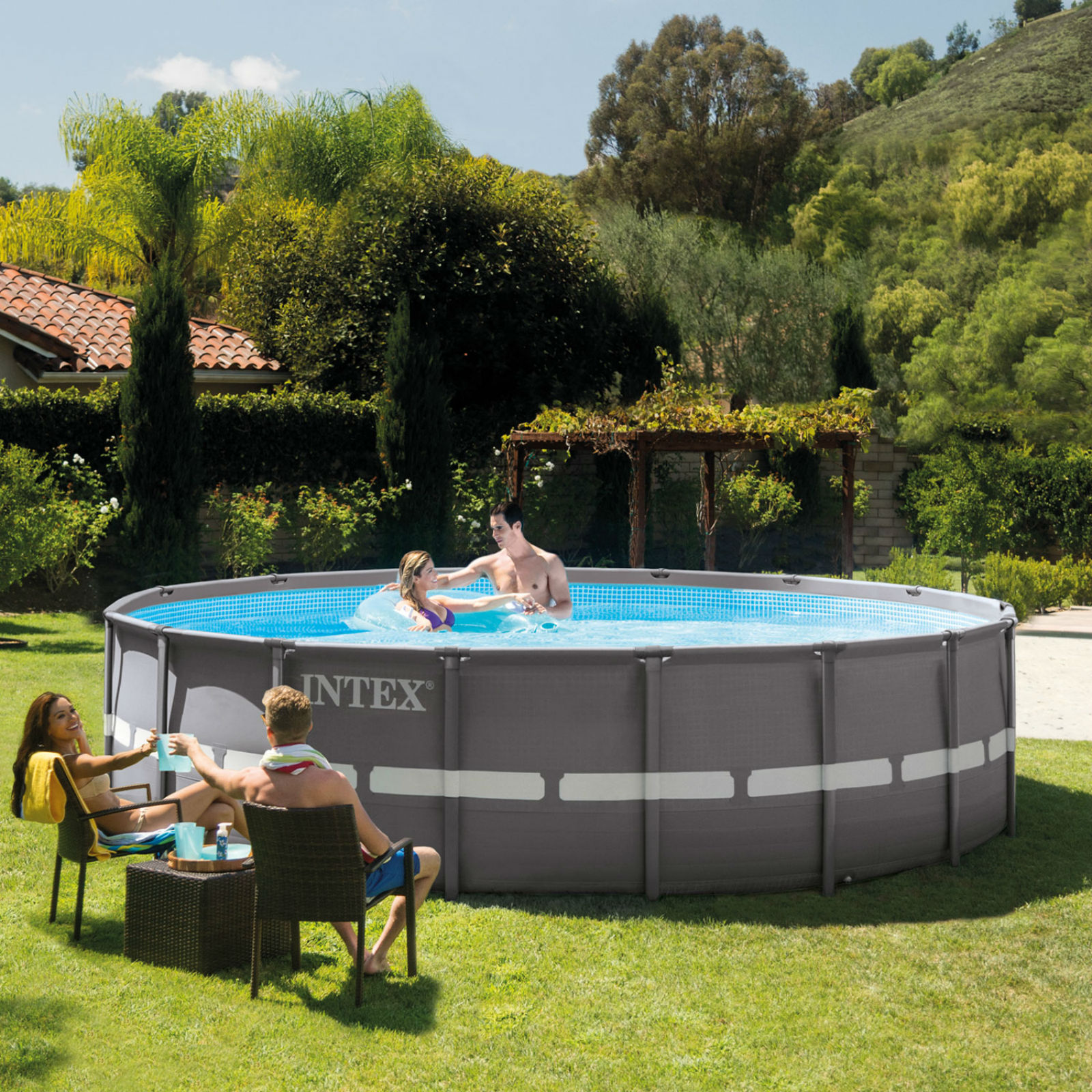 Intex Pool Frame Rund Intex 16 39 X 48 Quot Round Ultra Frame Pool With Filter Pump