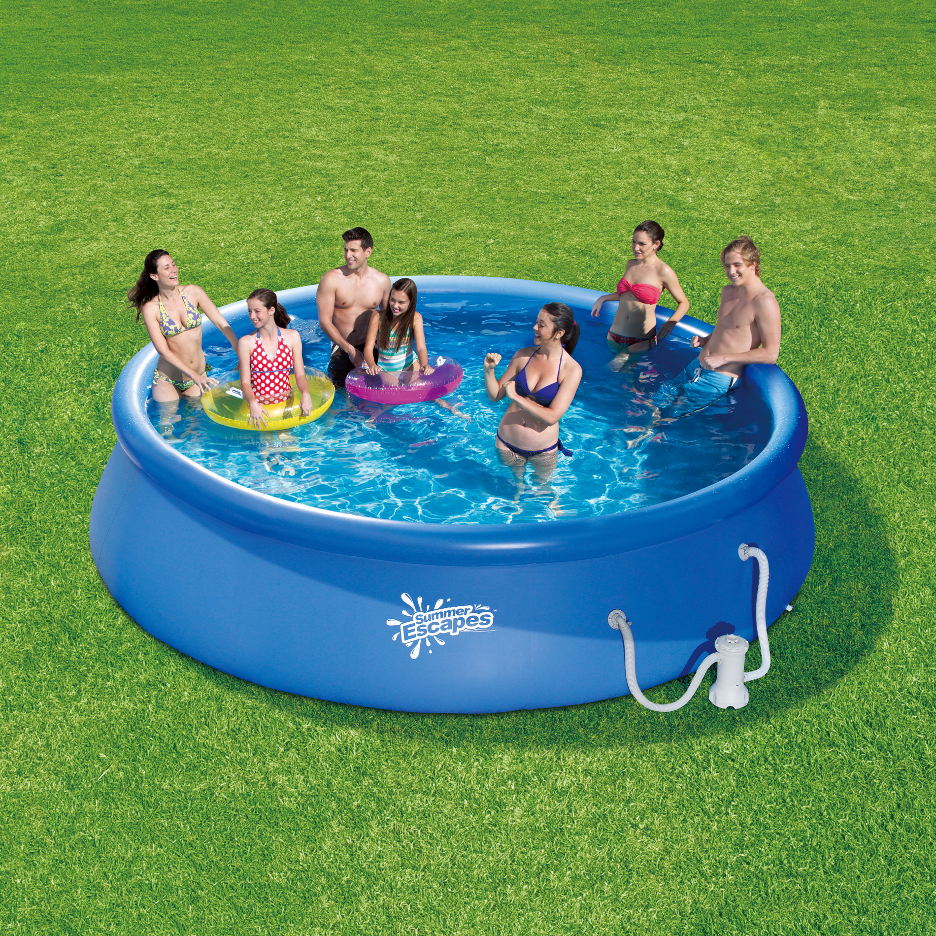Chlortabletten Quick Up Pool 14 Foot Quick Set Inflatable Family Pool At Kmart