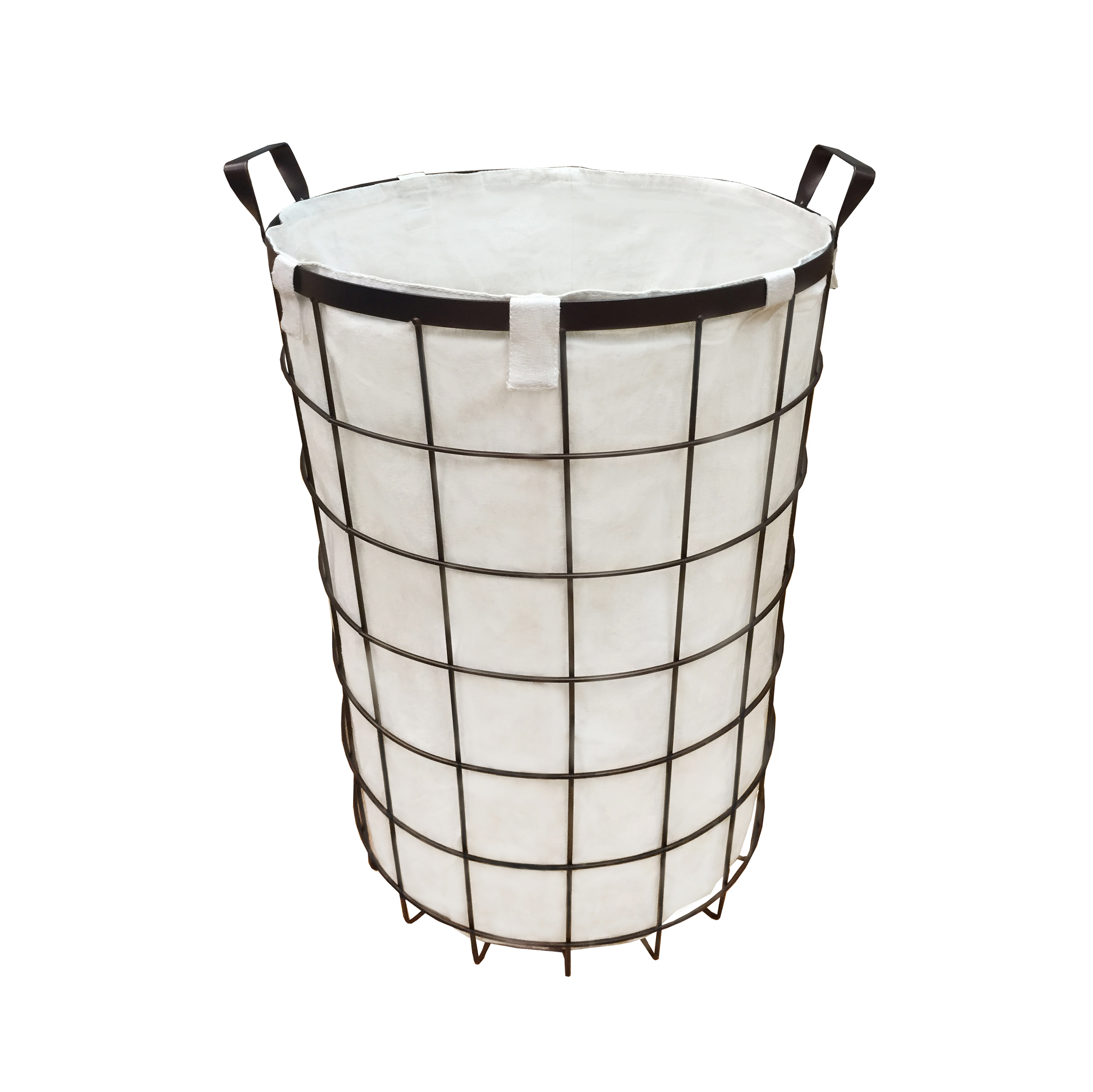 Chrome Laundry Basket Canvas Laundry Hamper Kmart