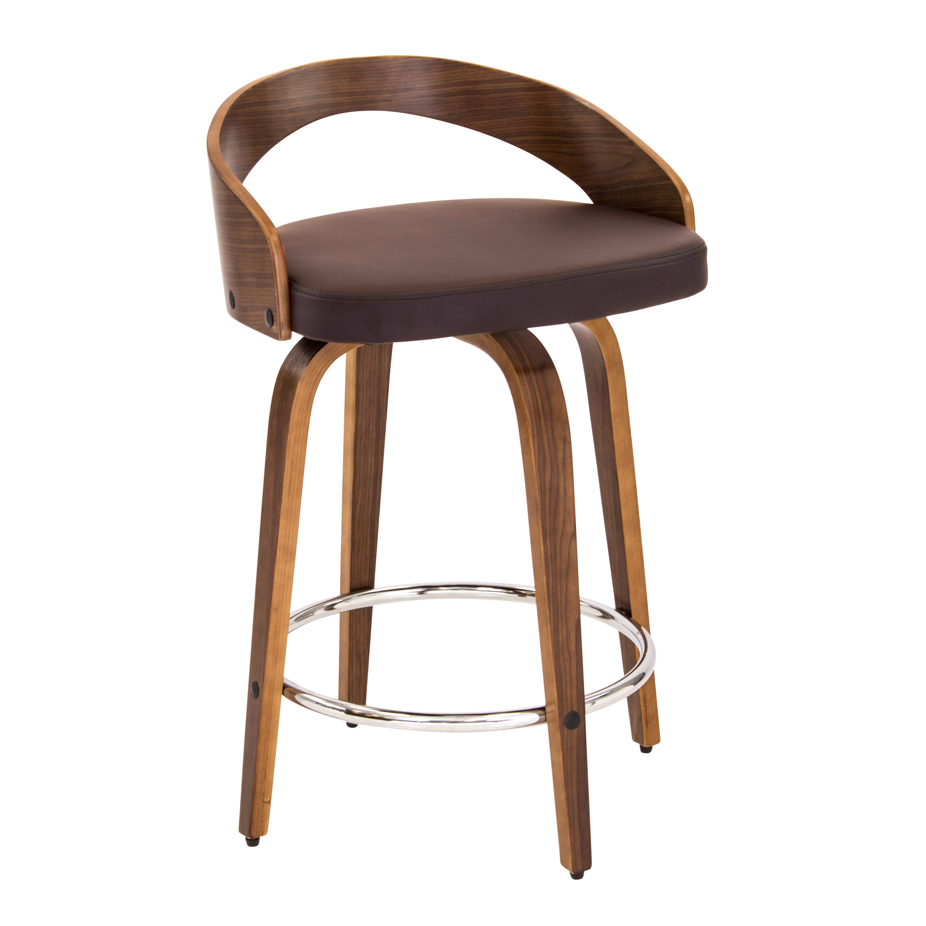 Modern Wood Counter Stool Lumisource Grotto Mid Century Modern Counter Stool With