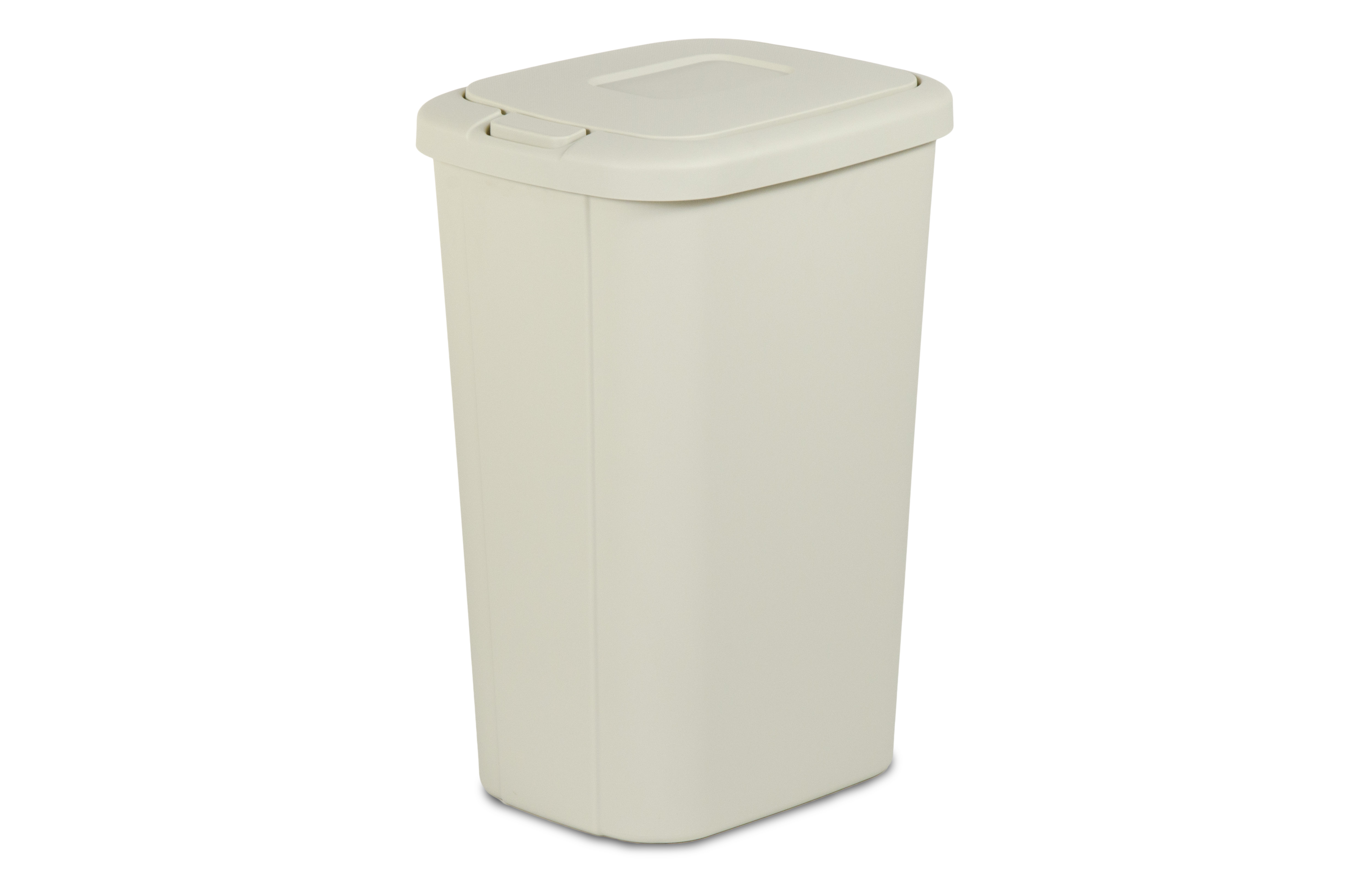 Trash Can With Lid Kitchen Hefty 13 3 Gallon Tan Wastebasket With Touch Lid Home
