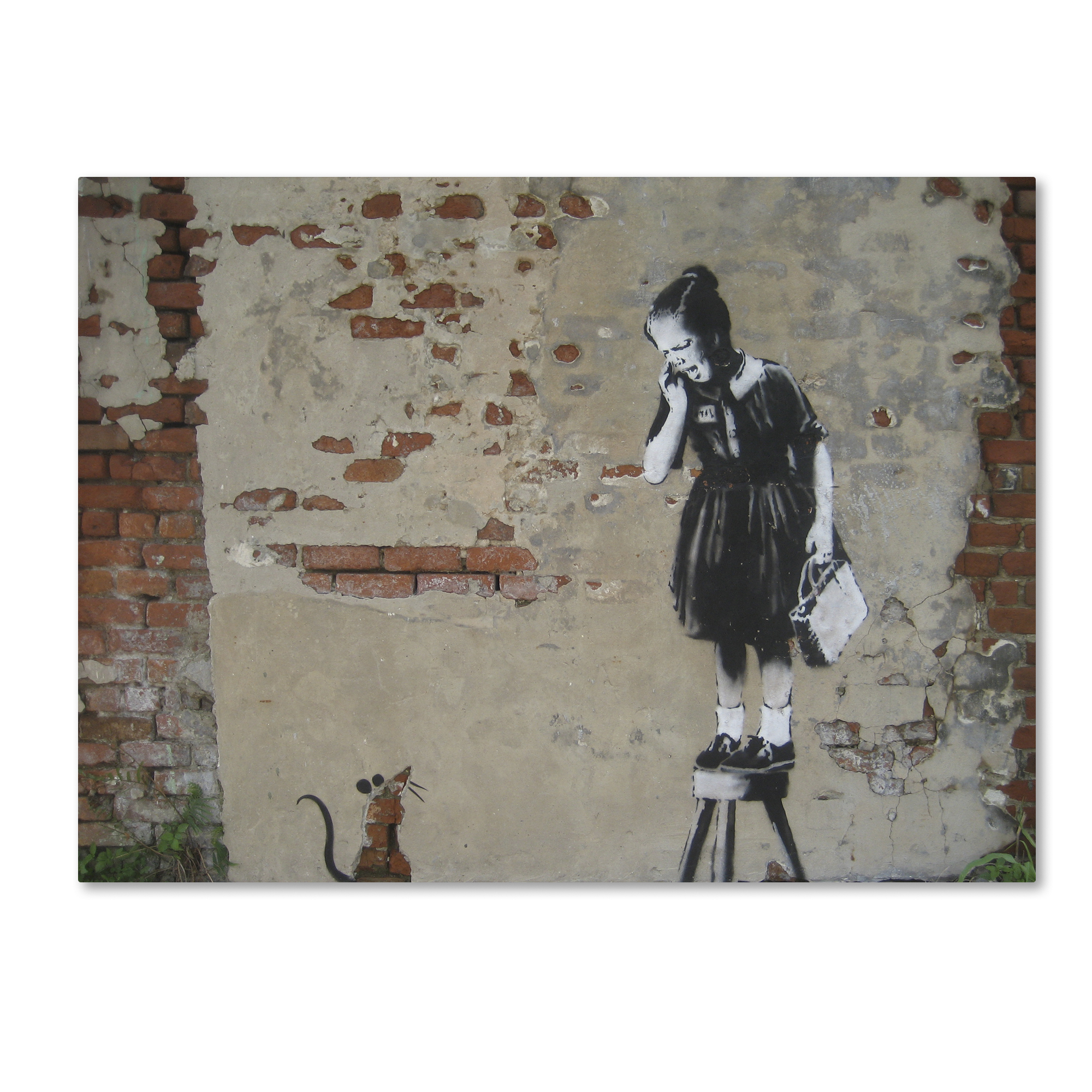 Banksy Canvas Art Trademark Global Banksy Ratgirl Canvas Art