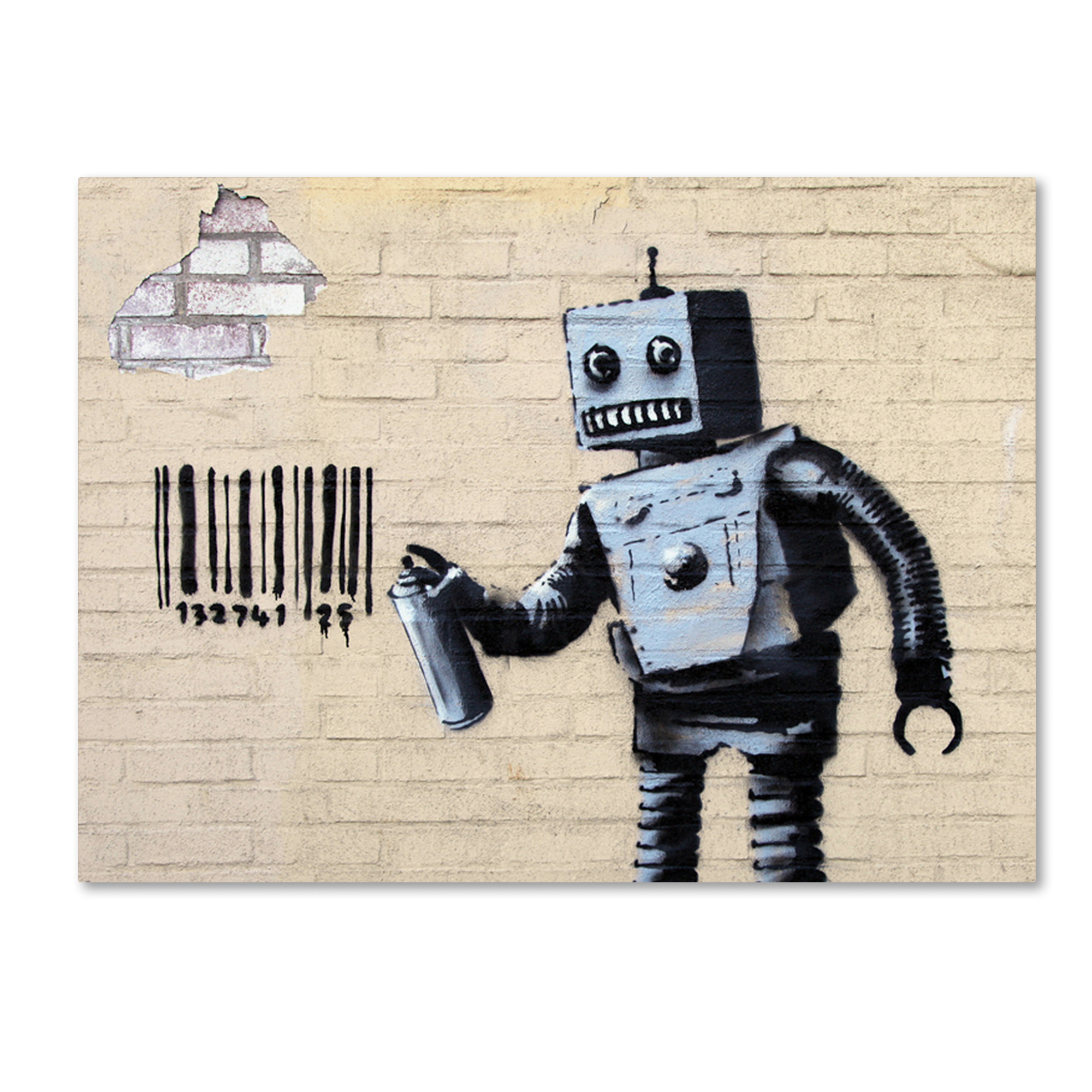 Banksy Canvas Art Trademark Global Banksy Robot Canvas Art