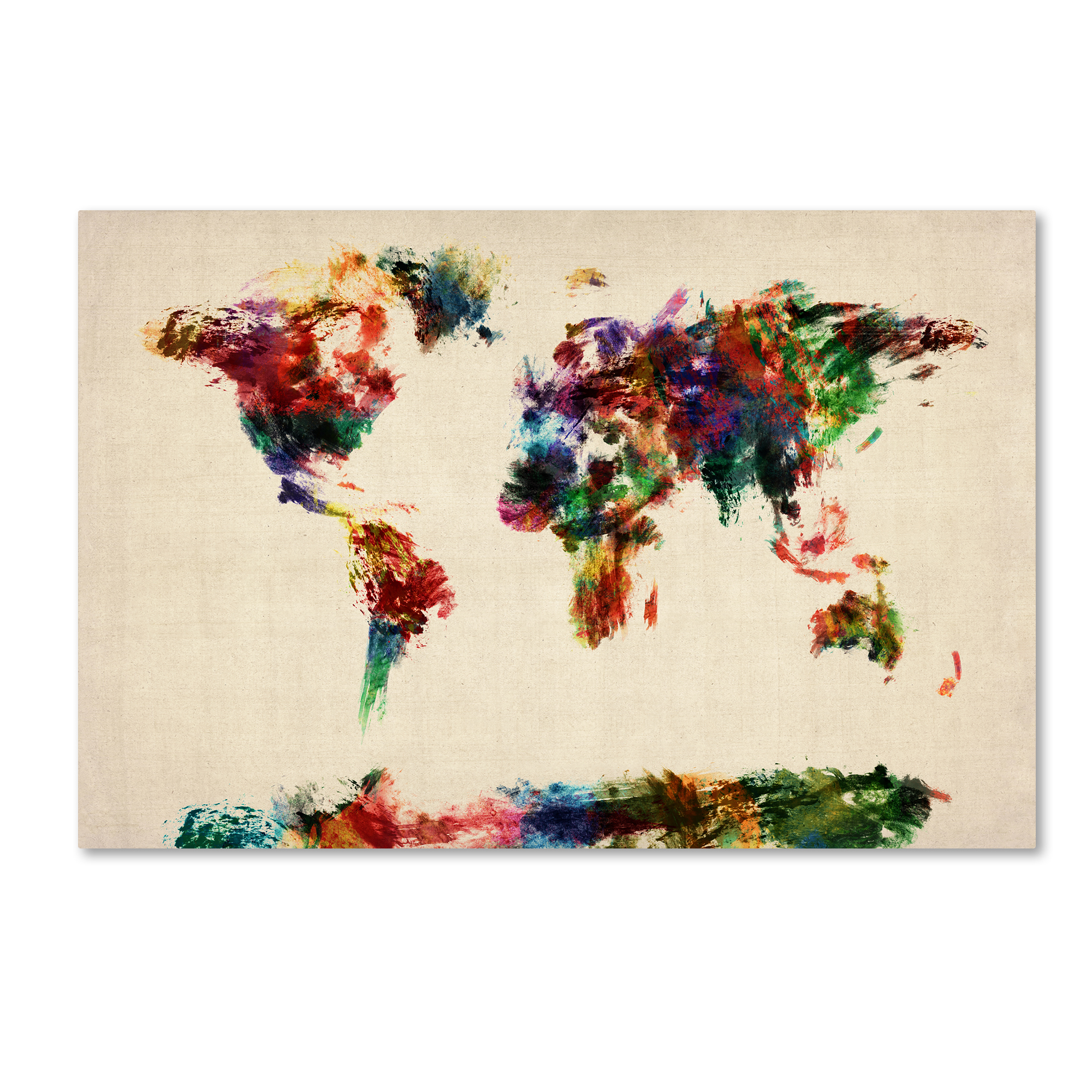 Kmart World Map World Map Canvas Art Kmart