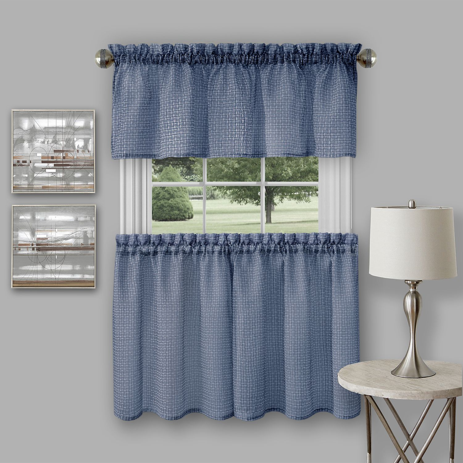 Kitchen Tier Curtains Sets Achim Richmond Window Kitchen Curtain Tier Pair And