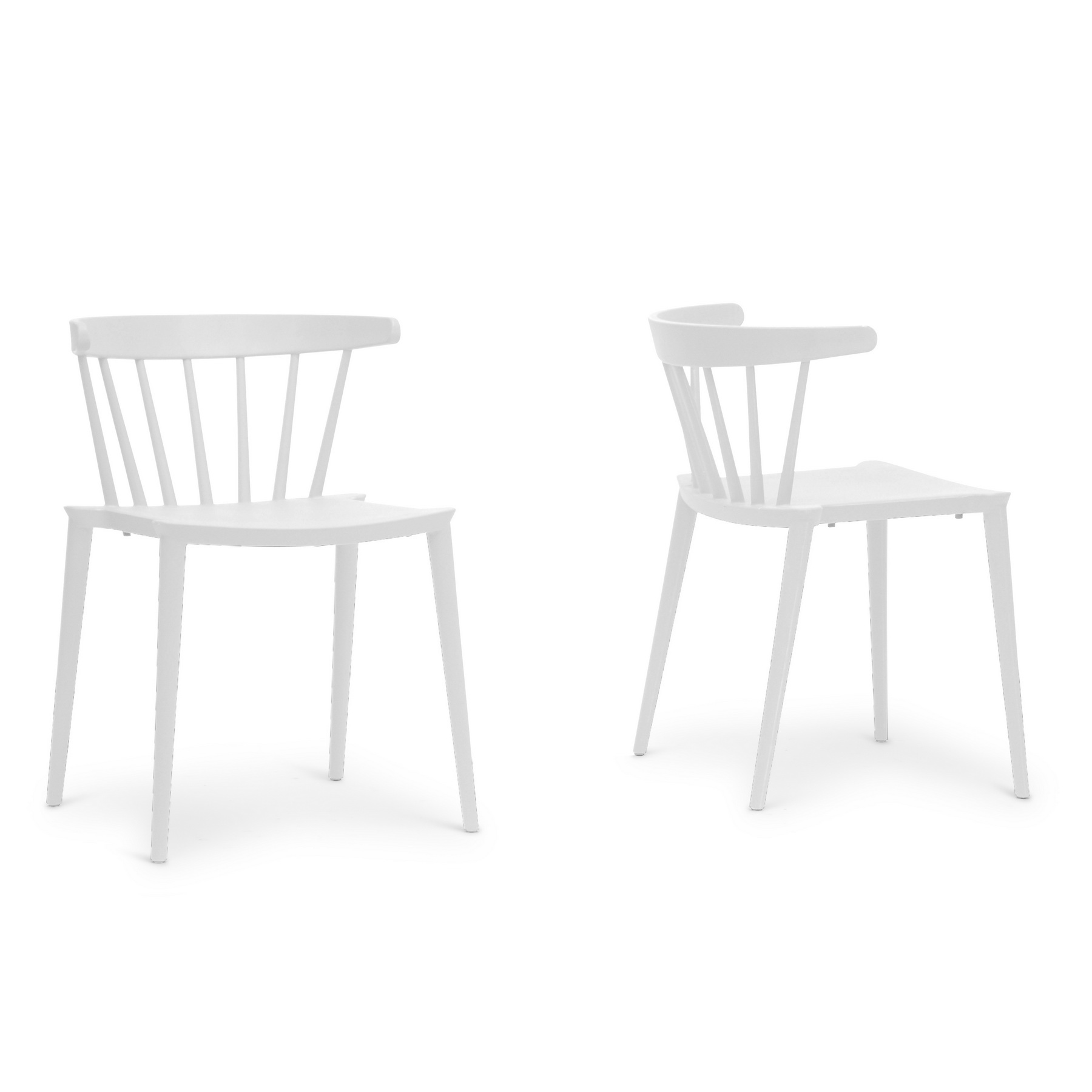 White Plastic Modern Chairs Baxton Studio Finchum White Plastic Stackable Modern