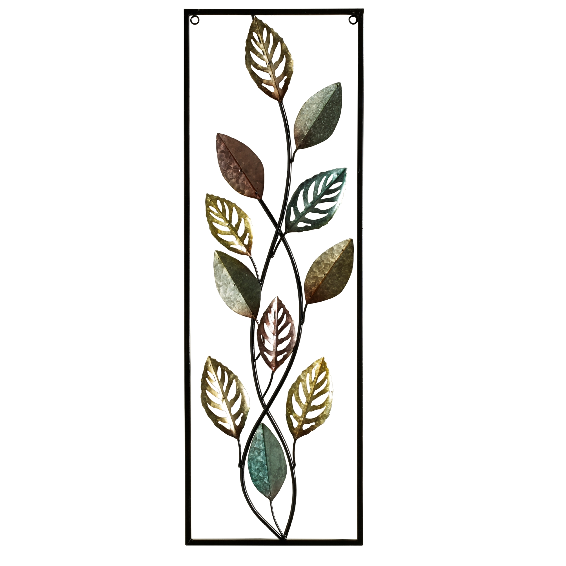 Leaf Metal Wall Art Elements Metal Gold Leaf Wall Decor