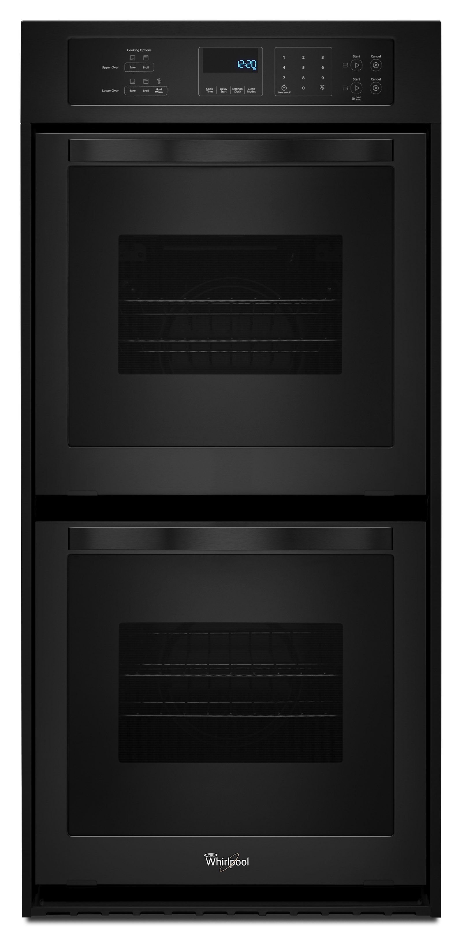 "Whirlpool Oven Symbolen Whirlpool Wod51es4eb 24"" Double Wall Oven - Black"