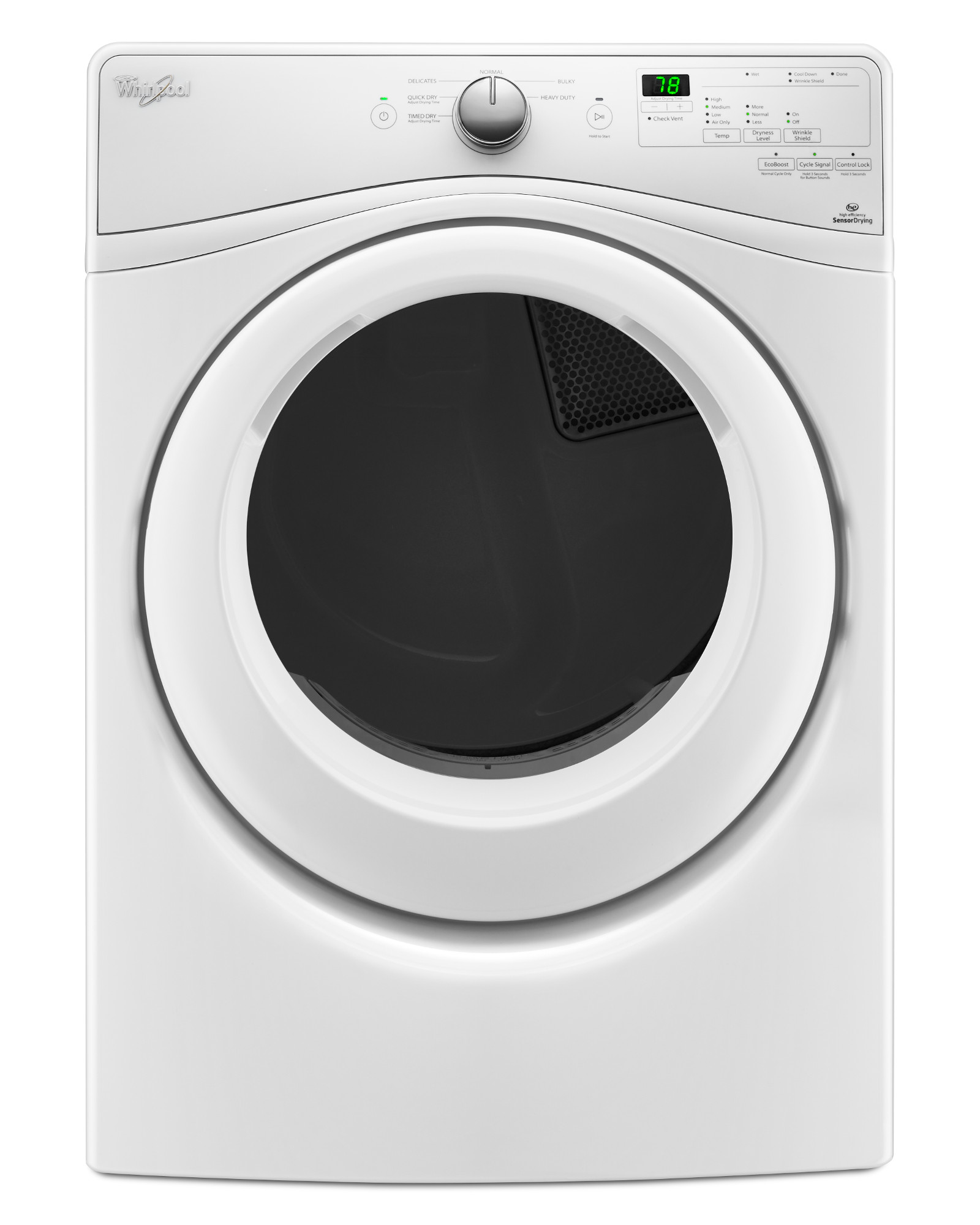 Whirlpool Wgd7590fw 7 4 Cu Ft Duet Long Vent Front Load - Whirlpool Steam Dryer