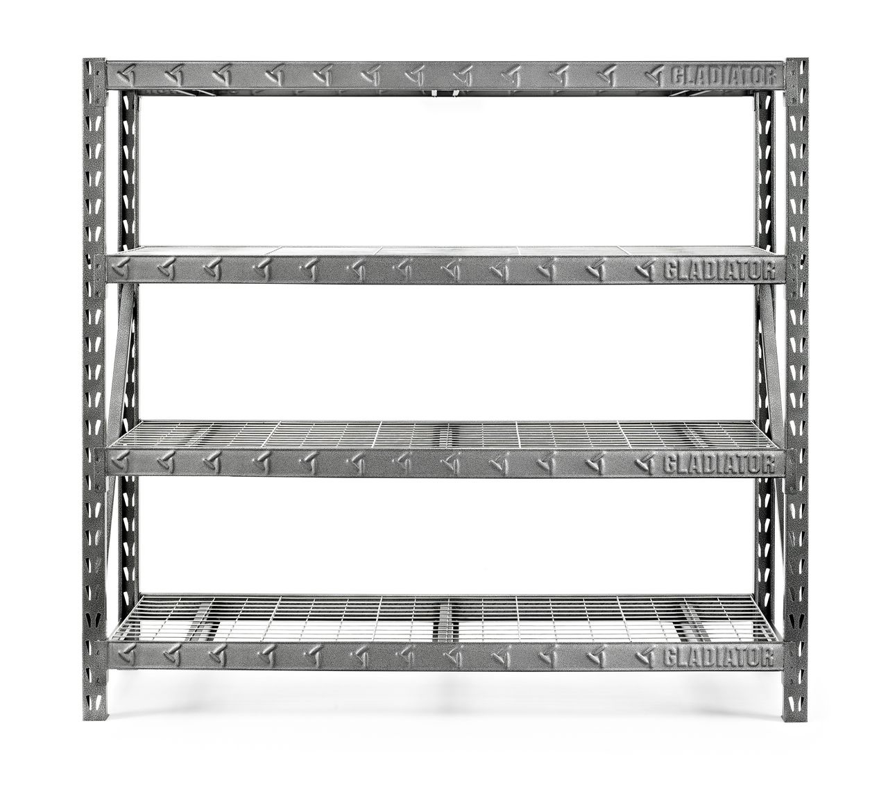 Gorilla Garage Racks Gladiator Premium Welded Steel Rack Shelving Unit 77