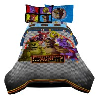 STRIKER Five Nights At Freddy s Kids Twin Comforter Pizza