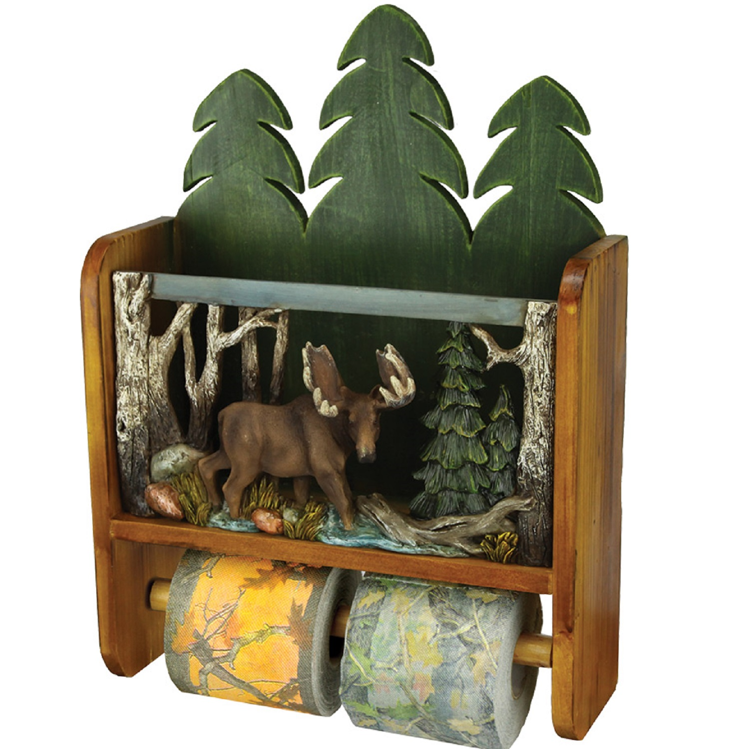 Animal Toilet Paper Holder Stand Rivers Edge Moose Magazine Rack Toilet Paper Holder