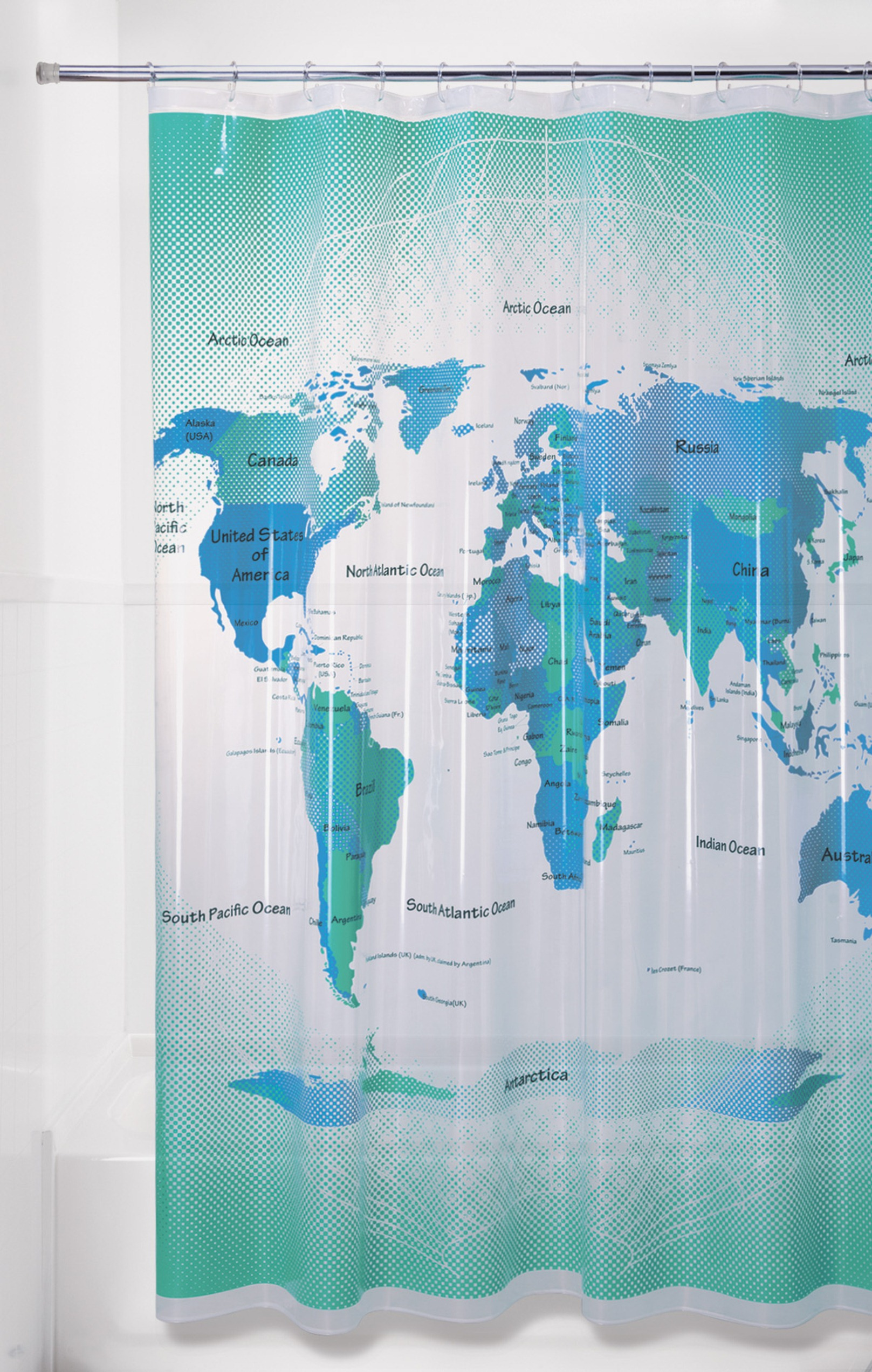 Kmart World Map Essential Home Peva Shower Curtain World Map Home