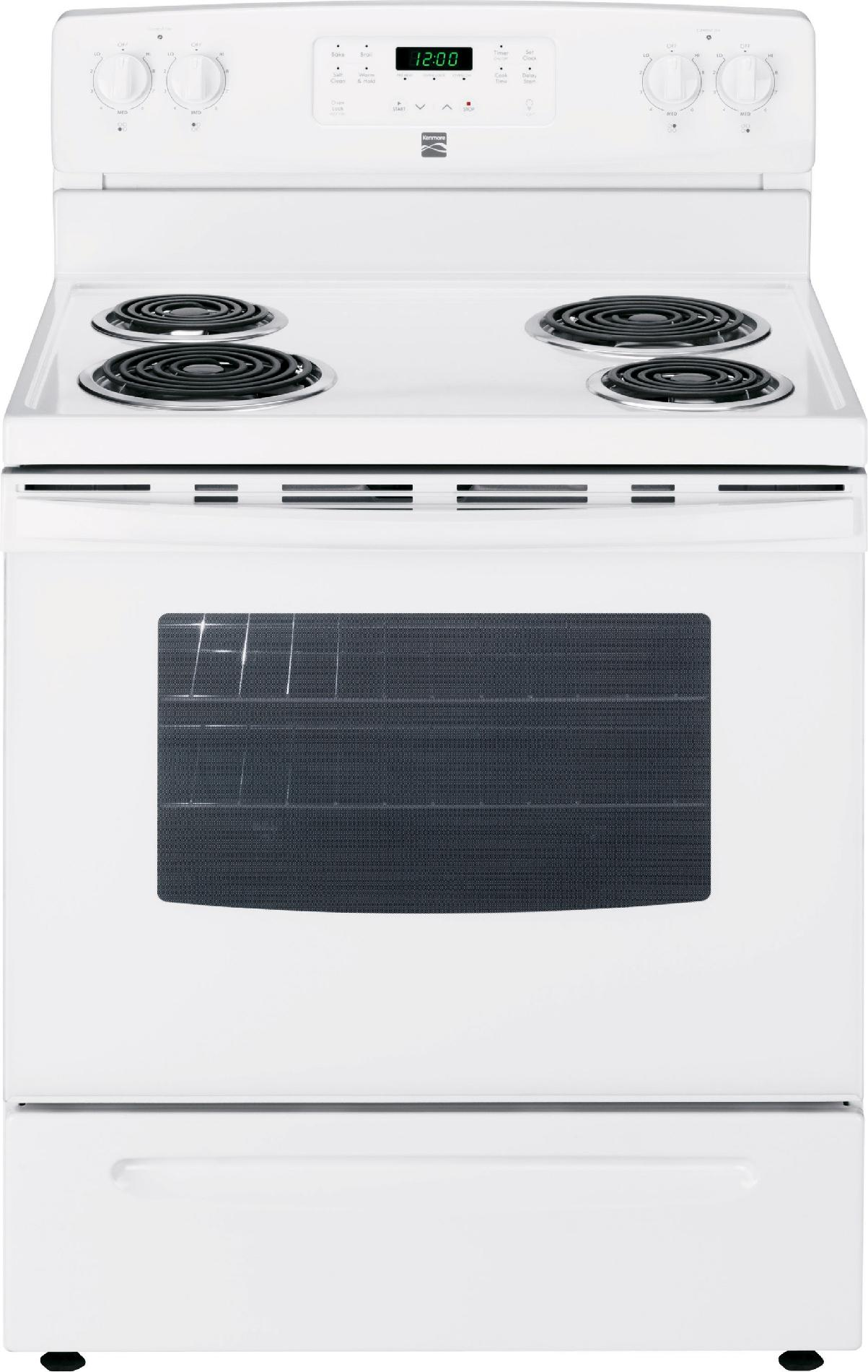 Herd Ofen Kenmore 94142 5 3 Cu Ft Electric Range W Self Cleaning