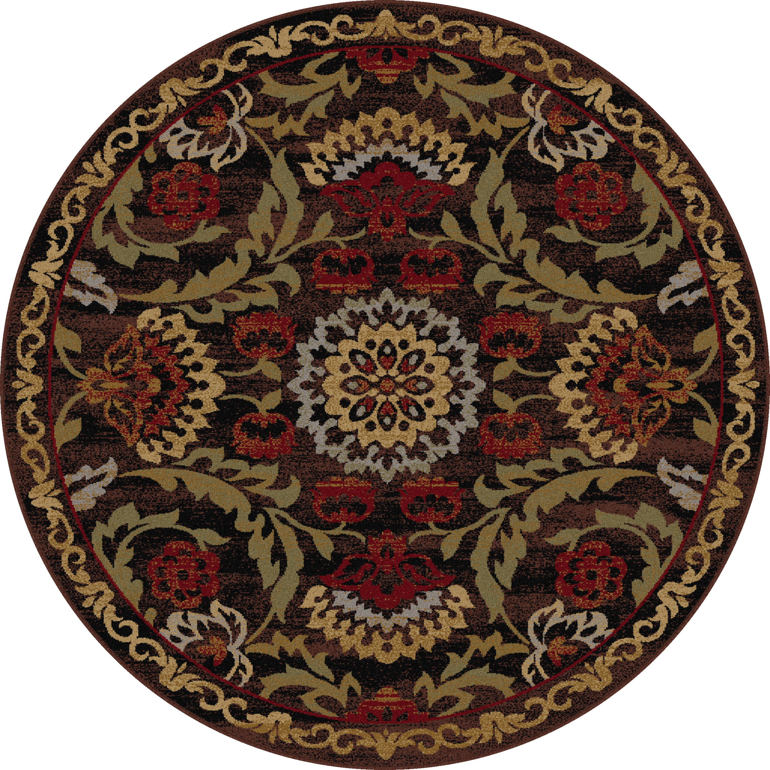Round Rug Kmart Tayse Rugs Impressions Harlow Floral Area Rug 5 393