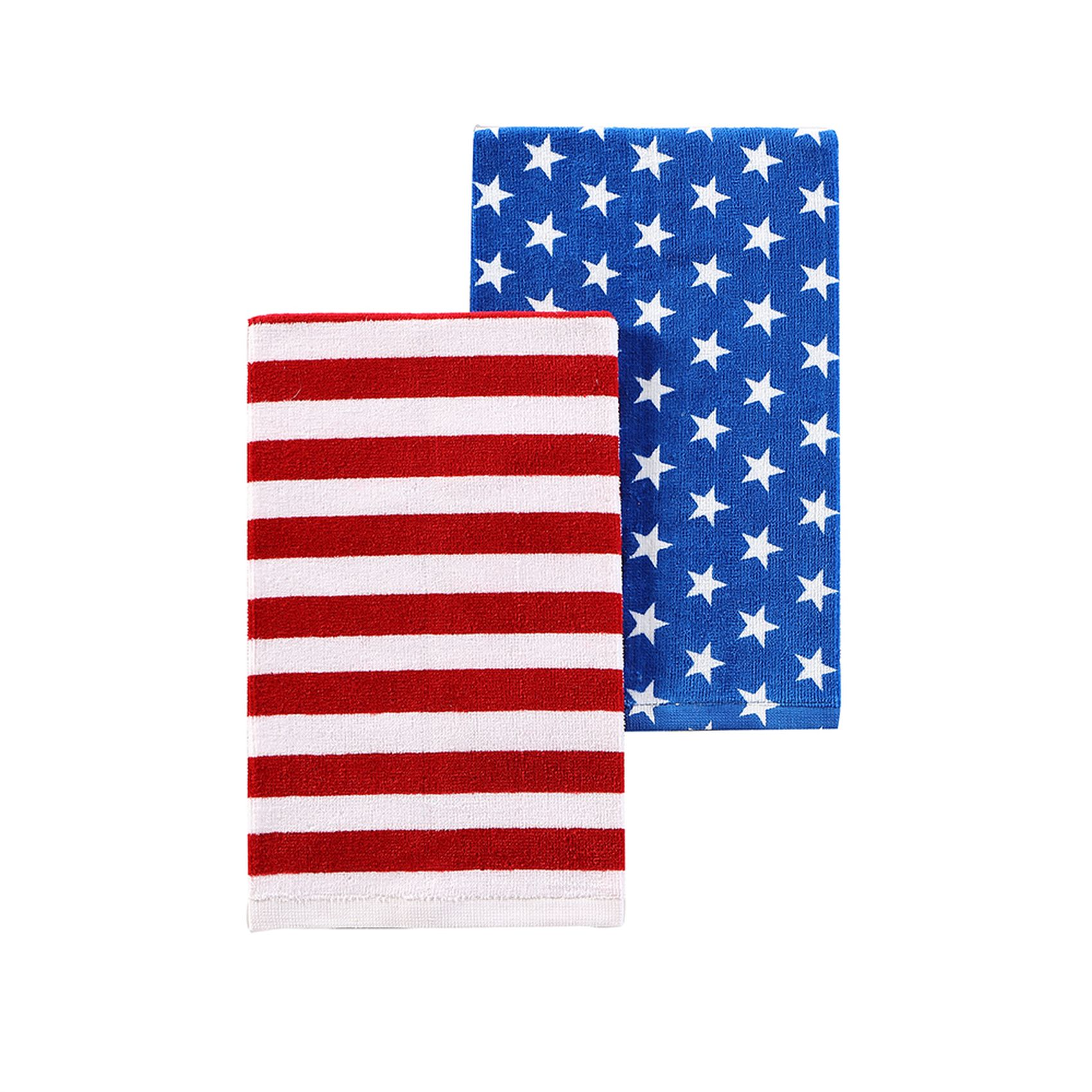 2 Pack Kitchen Americana 2 Pack Kitchen Towels Flag Stars